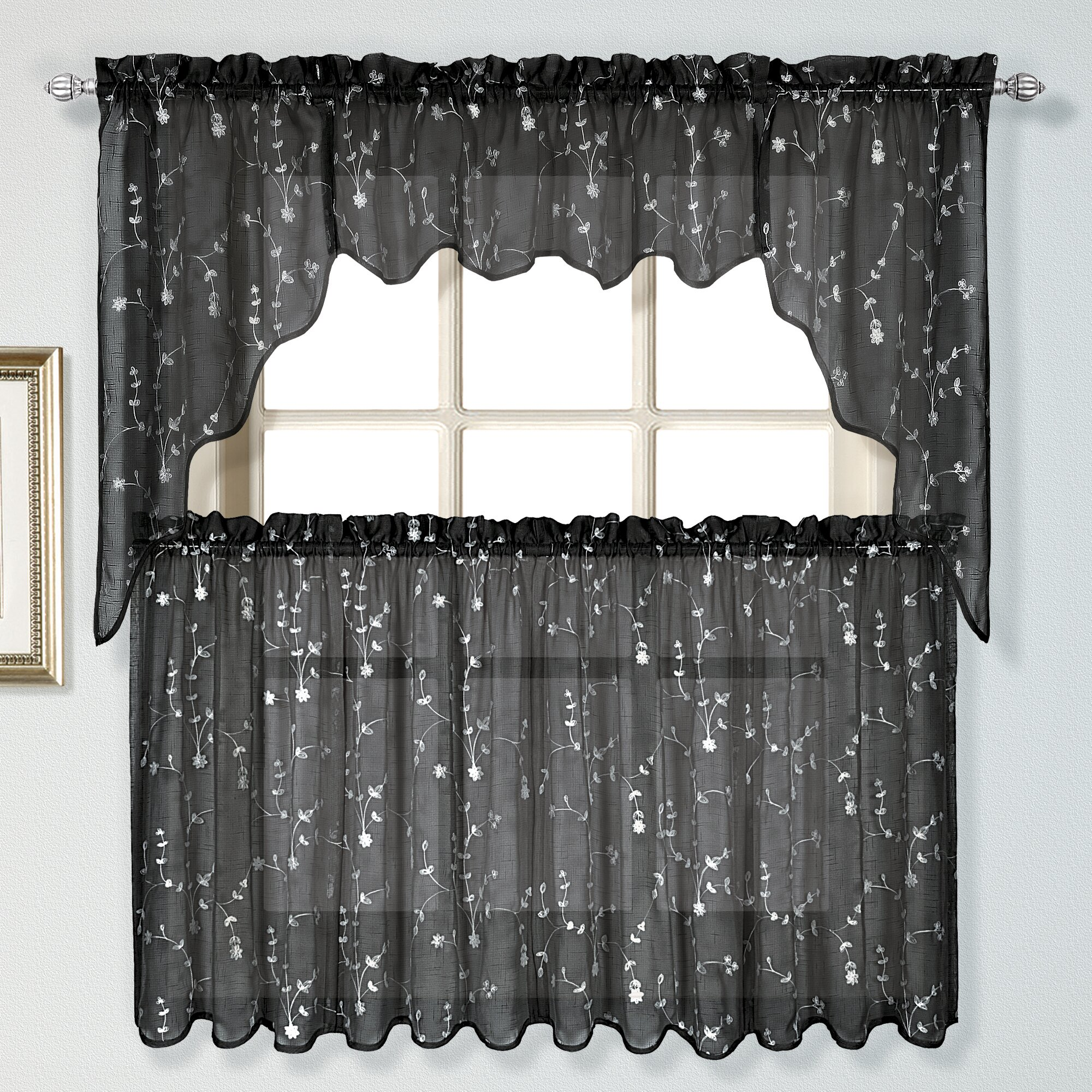 United Curtain Co Savannah Tier Curtain Reviews Wayfair