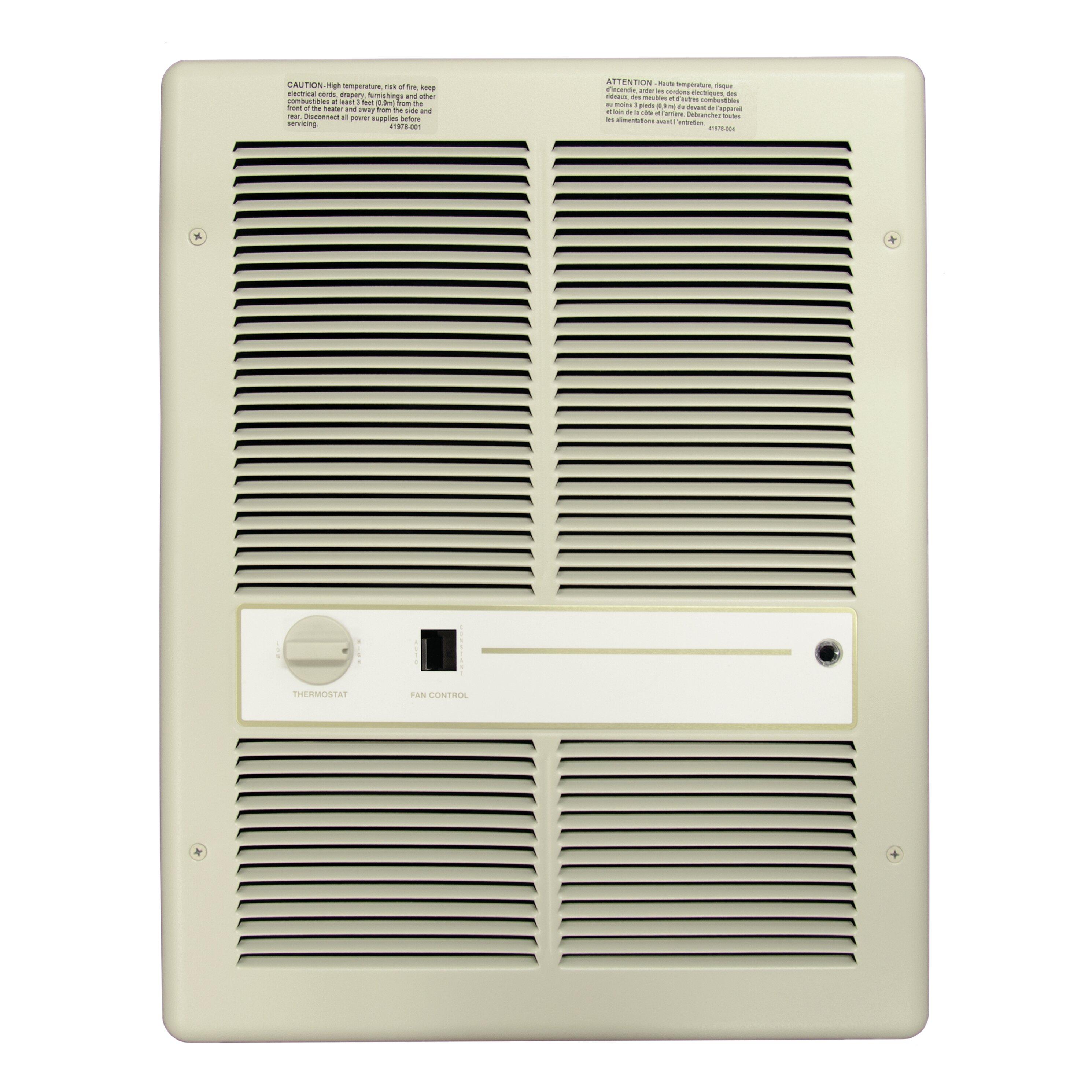 Tpi 4 000 Watt Wall Insert Electric Fan Heater With Summer