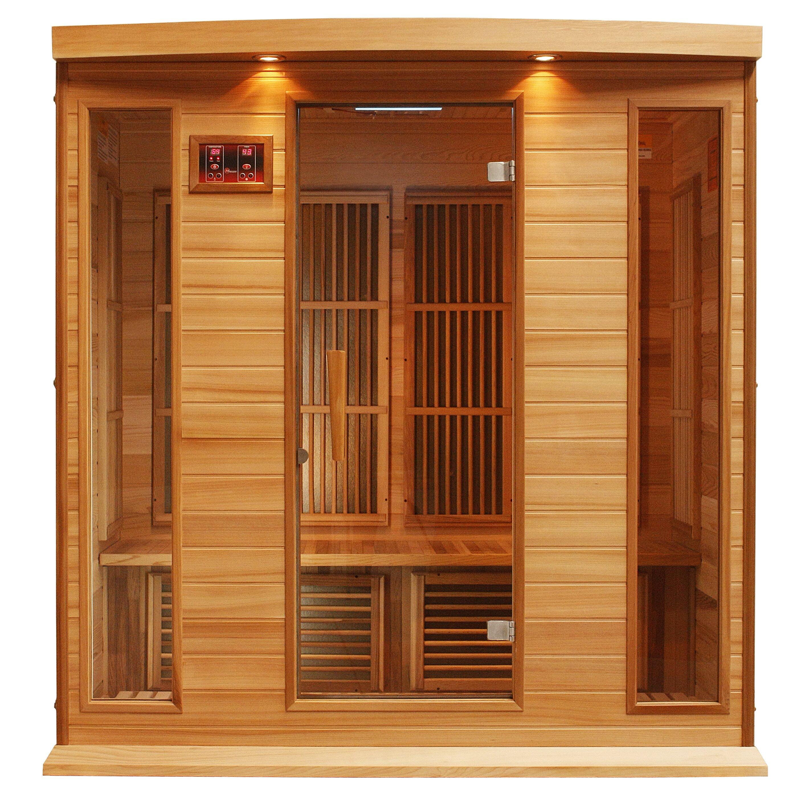 maxxus 4 person carbon far infrared sauna reviews wayfair. Black Bedroom Furniture Sets. Home Design Ideas