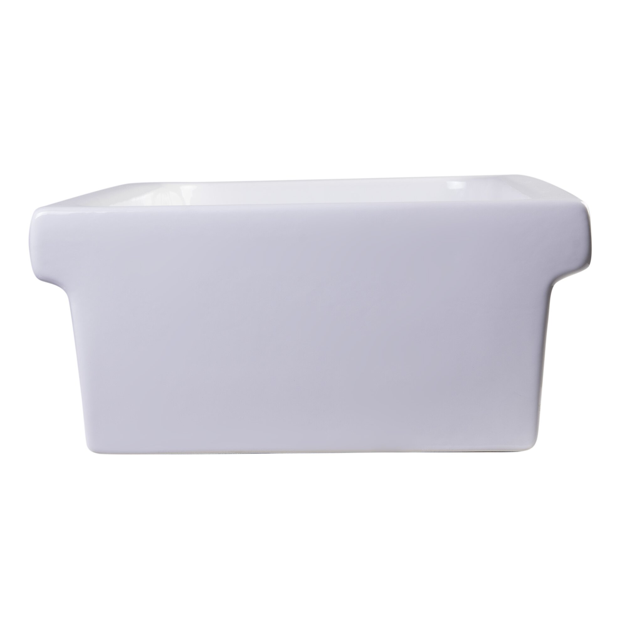 "Alfi Brand 35.5"" Above Mount Porcelain Bath Trough Sink"