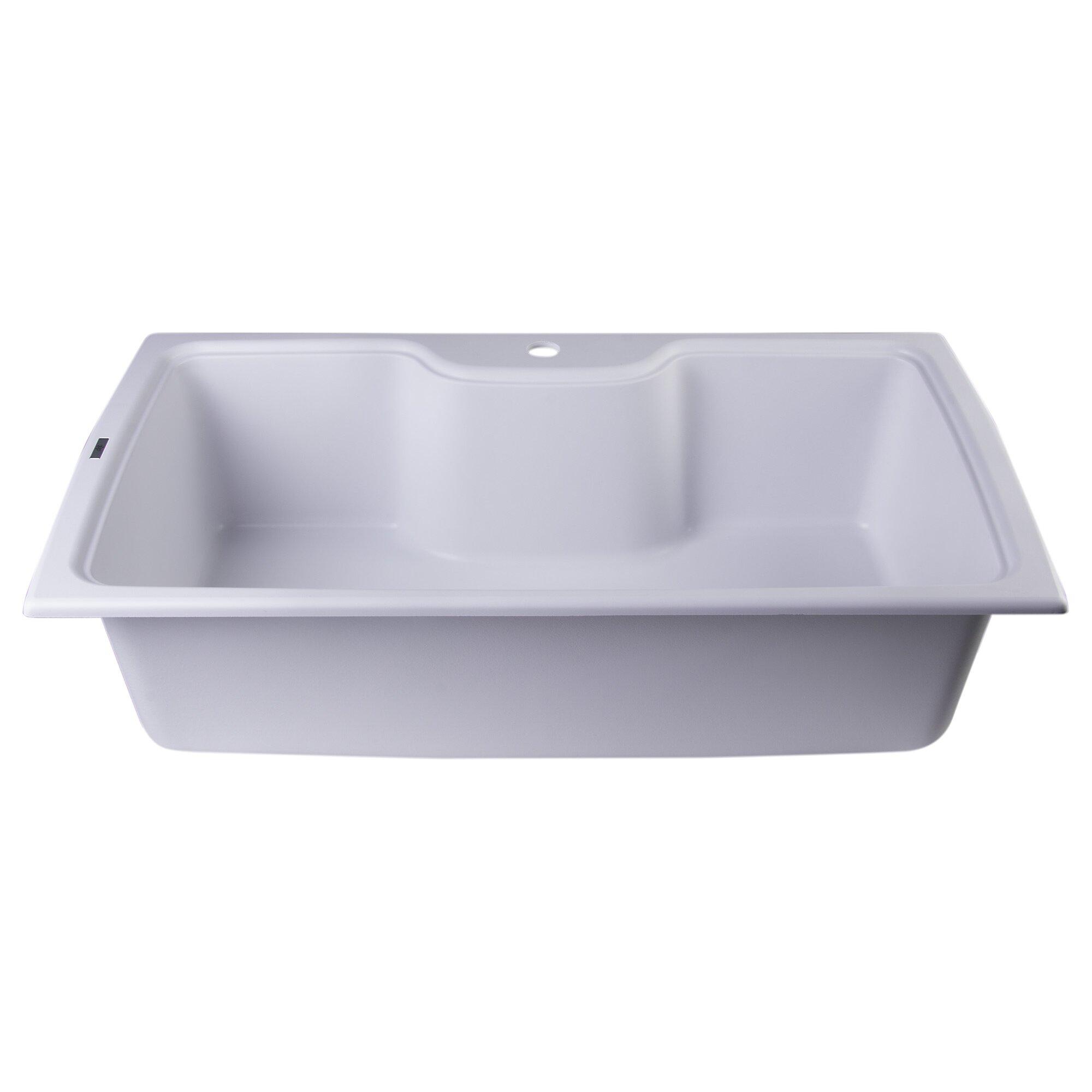 "Alfi Brand 34.63"" X 19.69"" Drop-In Single Bowl Kitchen"