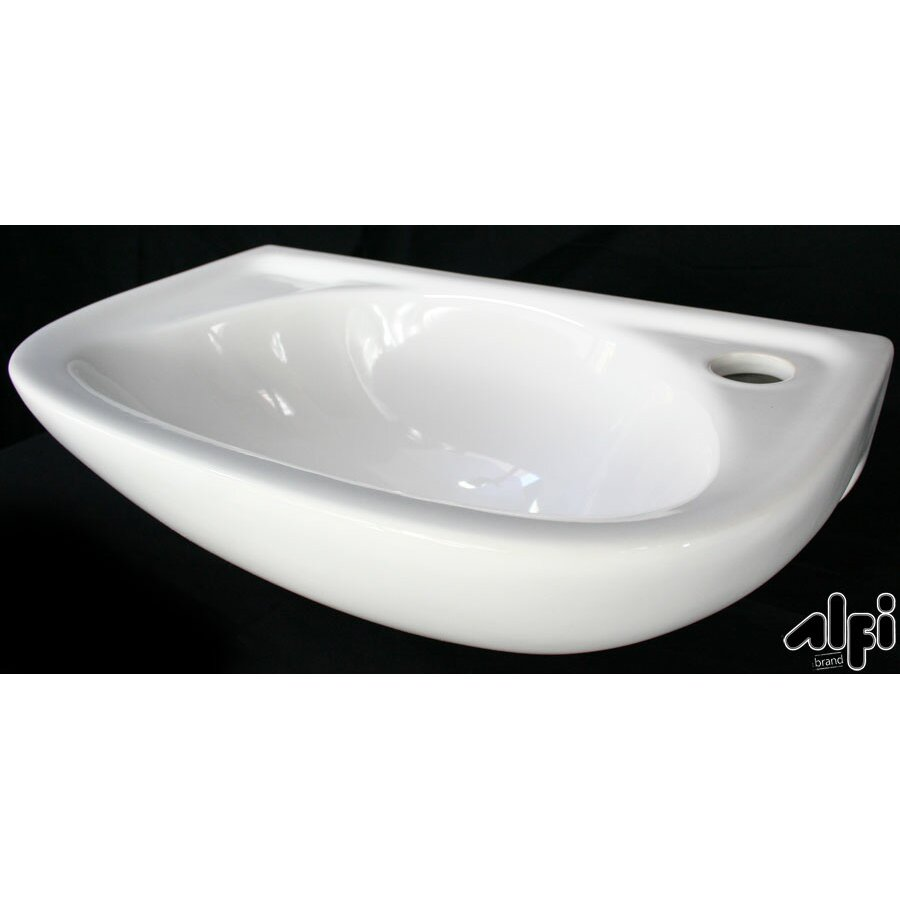 Alfi Brand Small Wall Mount Bathroom Sink & Reviews
