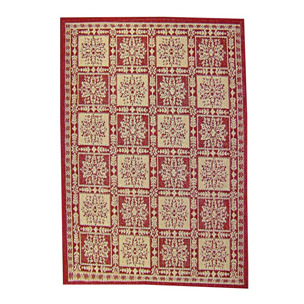 American mills patchwork floral red area rug wayfair for Red floral area rug