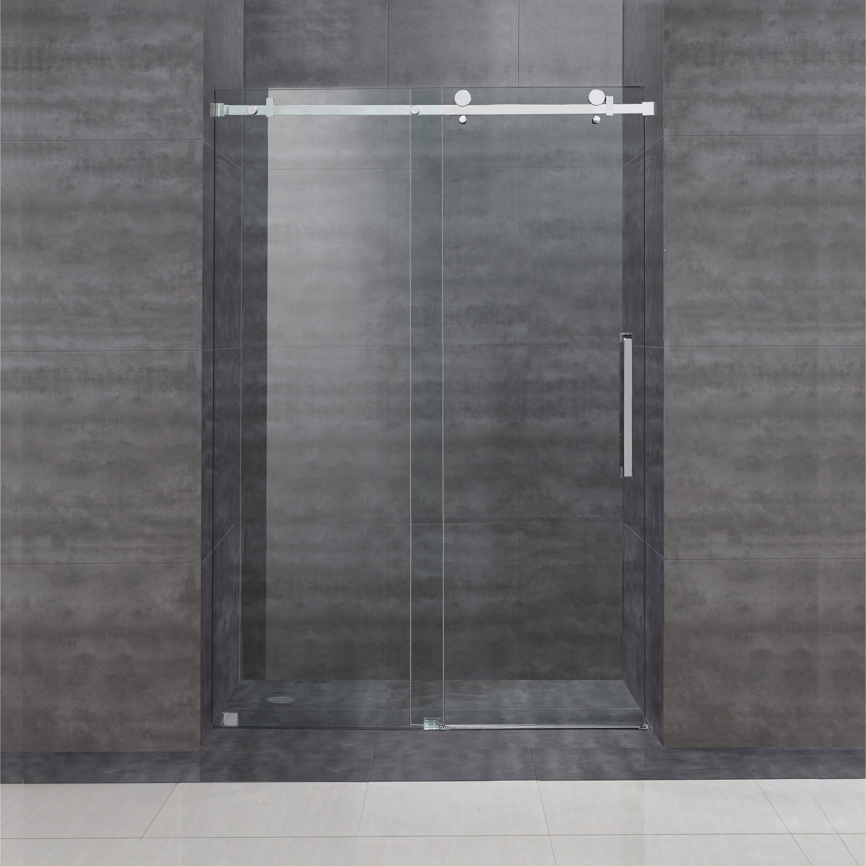 3402 #696562 Moselle 48 X 75 Single Sliding Completely Frameless Shower  Enclos Save Image Top