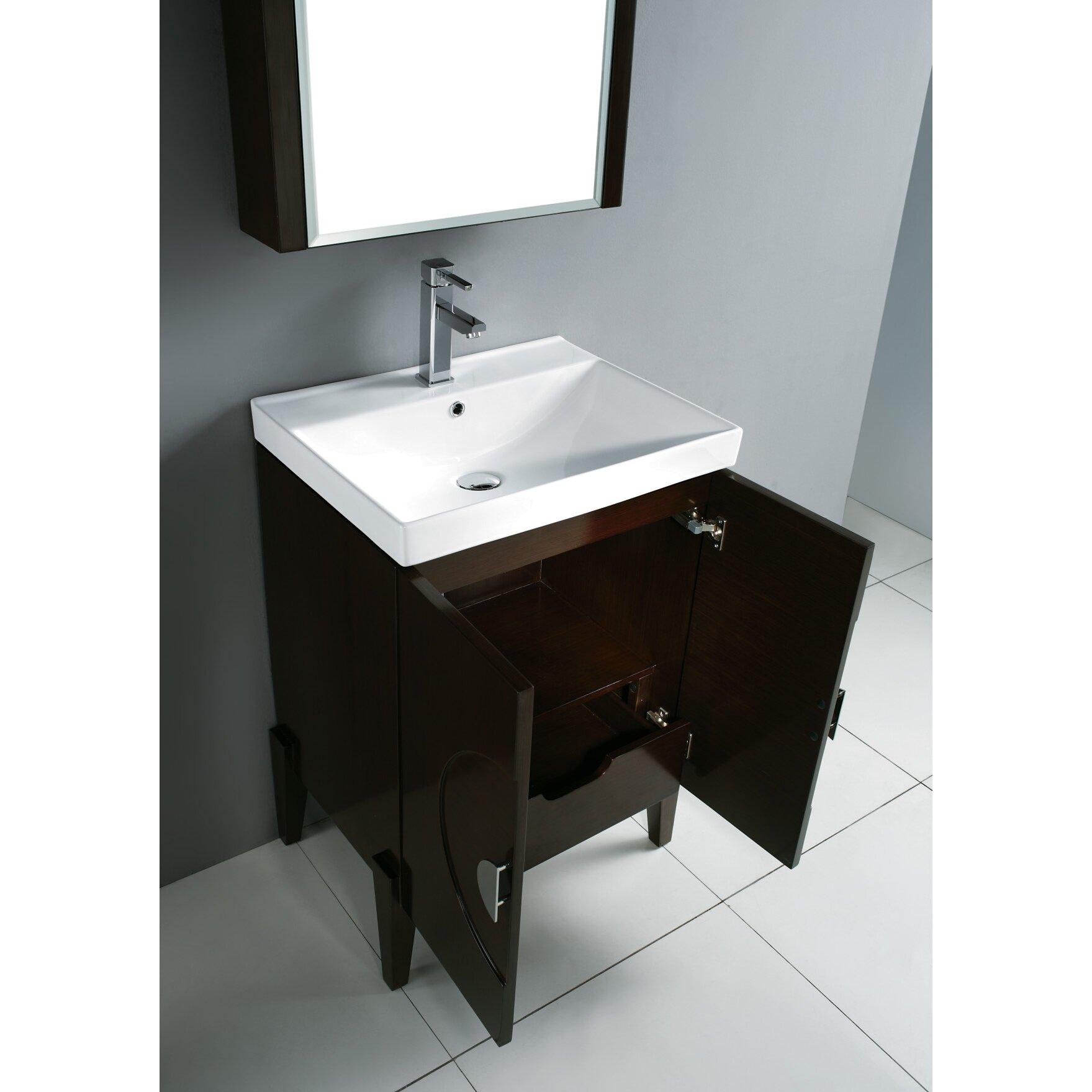 "Madeli Genova 24"" Bathroom Vanity Base & Reviews | Wayfair"