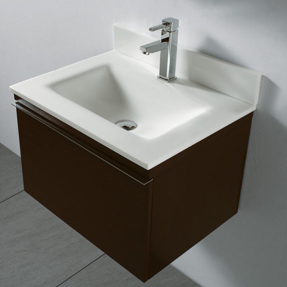 "Wall Bathroom Vanity: Madeli Venasca 24"" Single Wall Mount Bathroom Vanity Set"