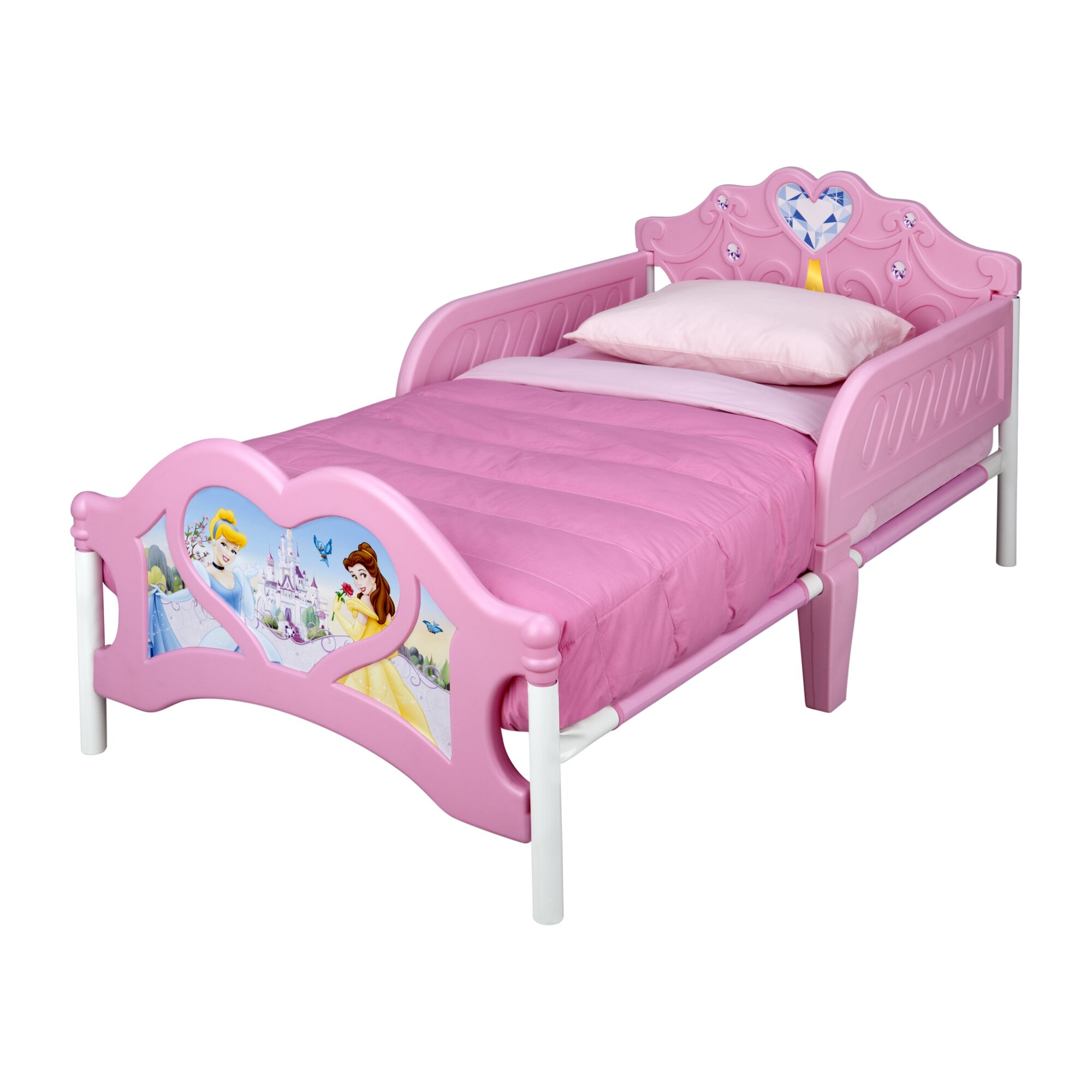 Disney Princess 3D Plastic Toddler Bed