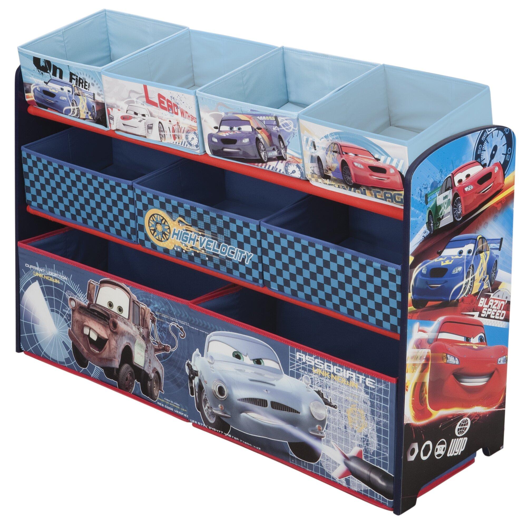 Car Toy Organizer : Disney pixar cars deluxe bin toy organizer wayfair