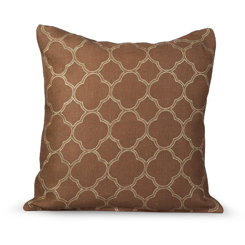 Gracious Living Intricate Burlap Throw Pillow & Reviews Wayfair Supply
