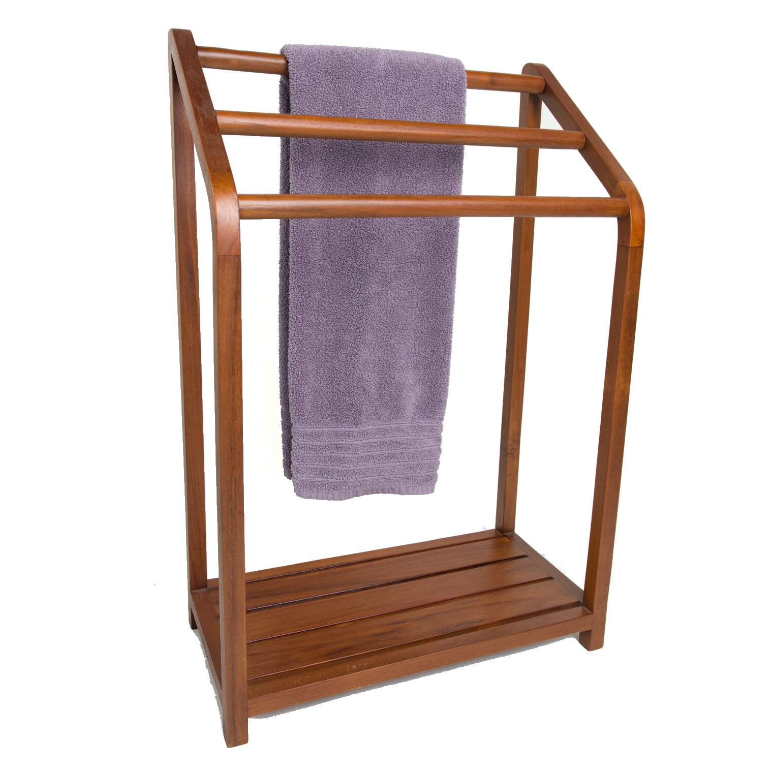 Aqua Teak Spa Teak Free Standing Towel Rack Reviews