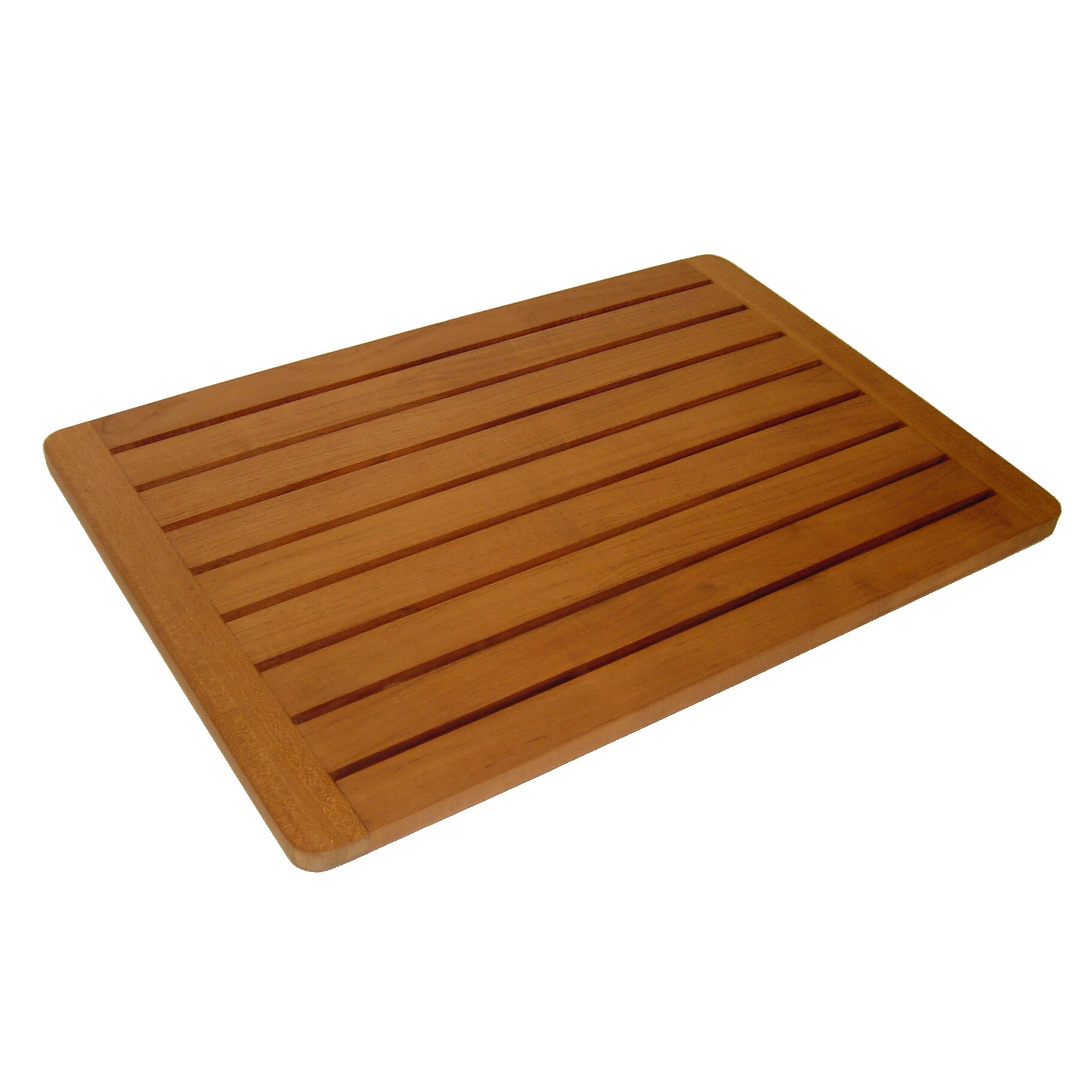 bathroom with wood tile aqua teak spa teak bath and shower mat amp reviews wayfair 17216