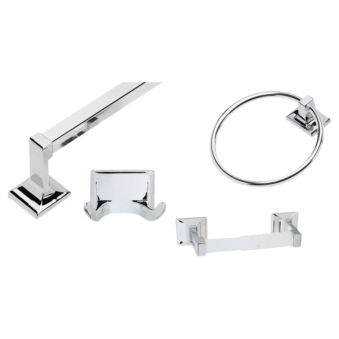 Design house millbridge 4 piece bathroom hardware set for 4 piece bathroom designs