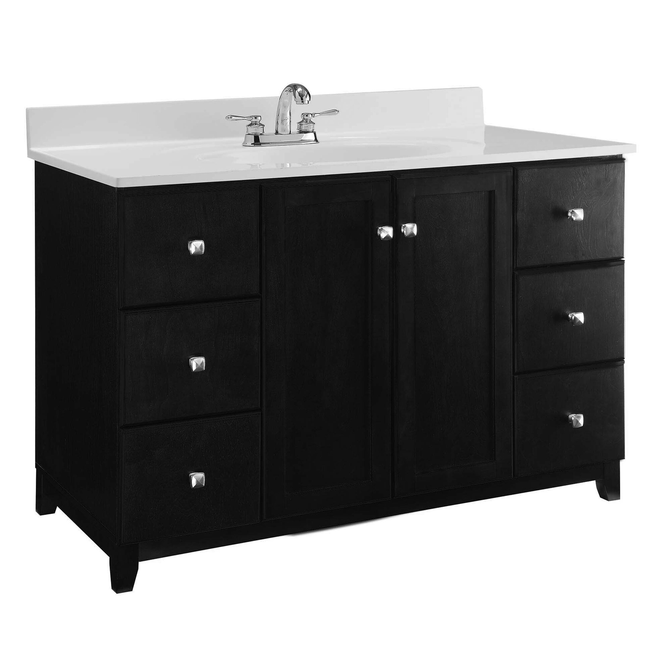 Design House 51 Quot Single Sink Bathroom Vanity Base Wayfair