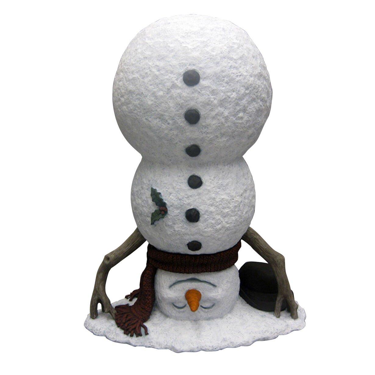 Design House Upside Down Snowman Statue & Reviews | Wayfair