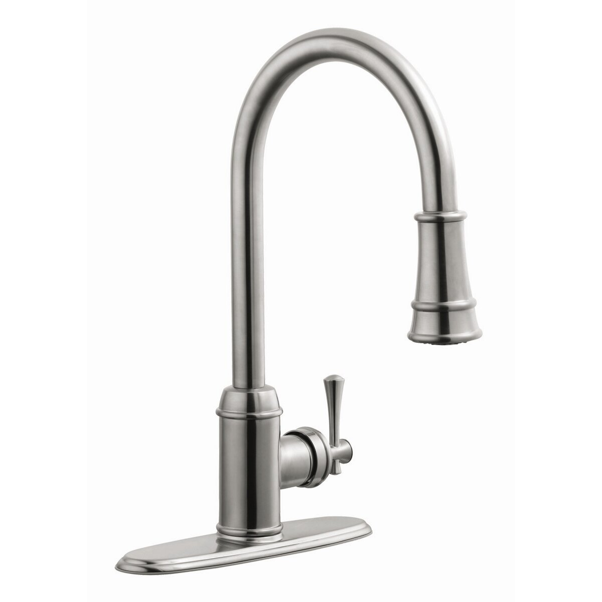 Design House Ironwood Single Handle Kitchen Faucet With Pullout Sprayer Reviews Wayfair
