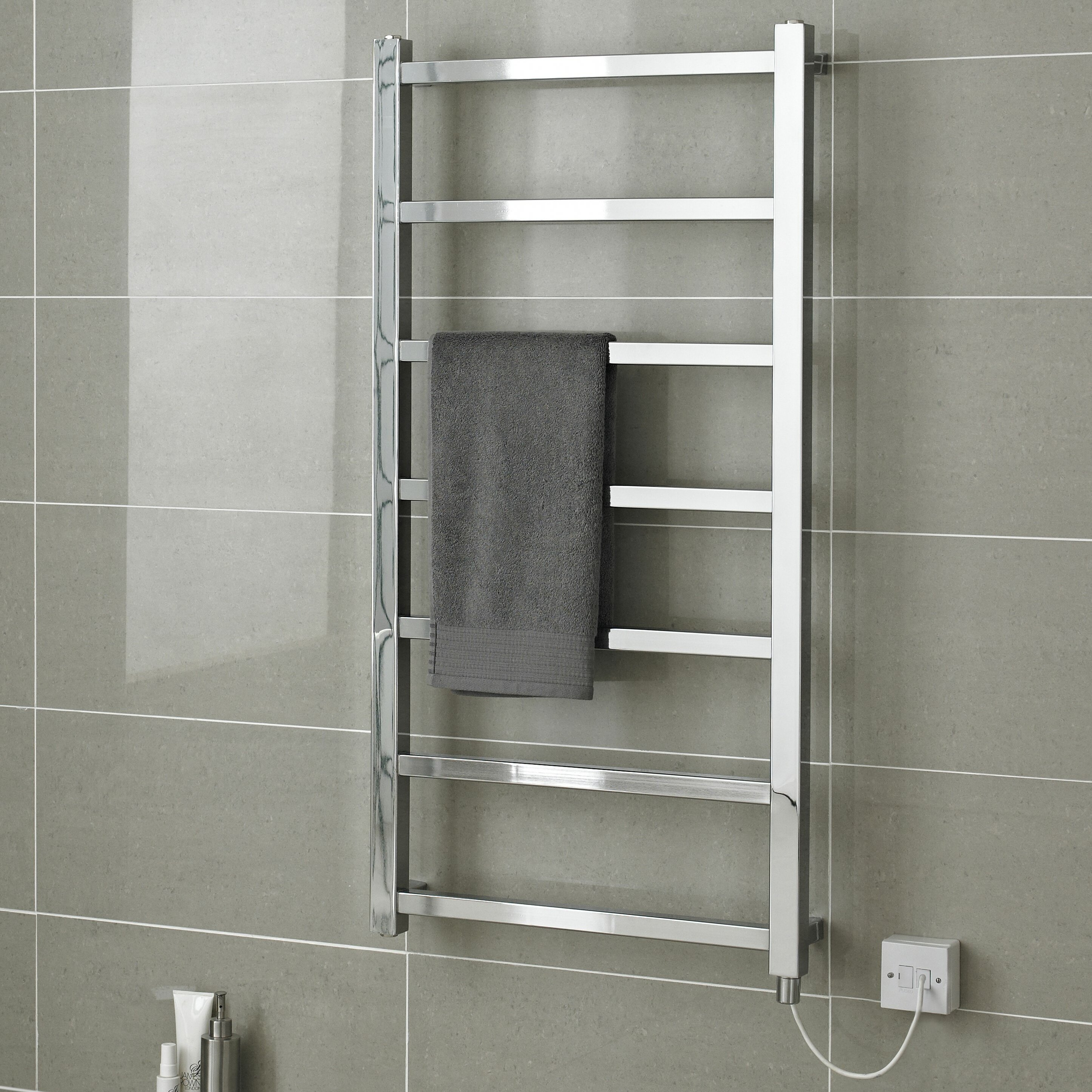 Hudson Reed Eton Wall Mount Electric Heated Towel Rail