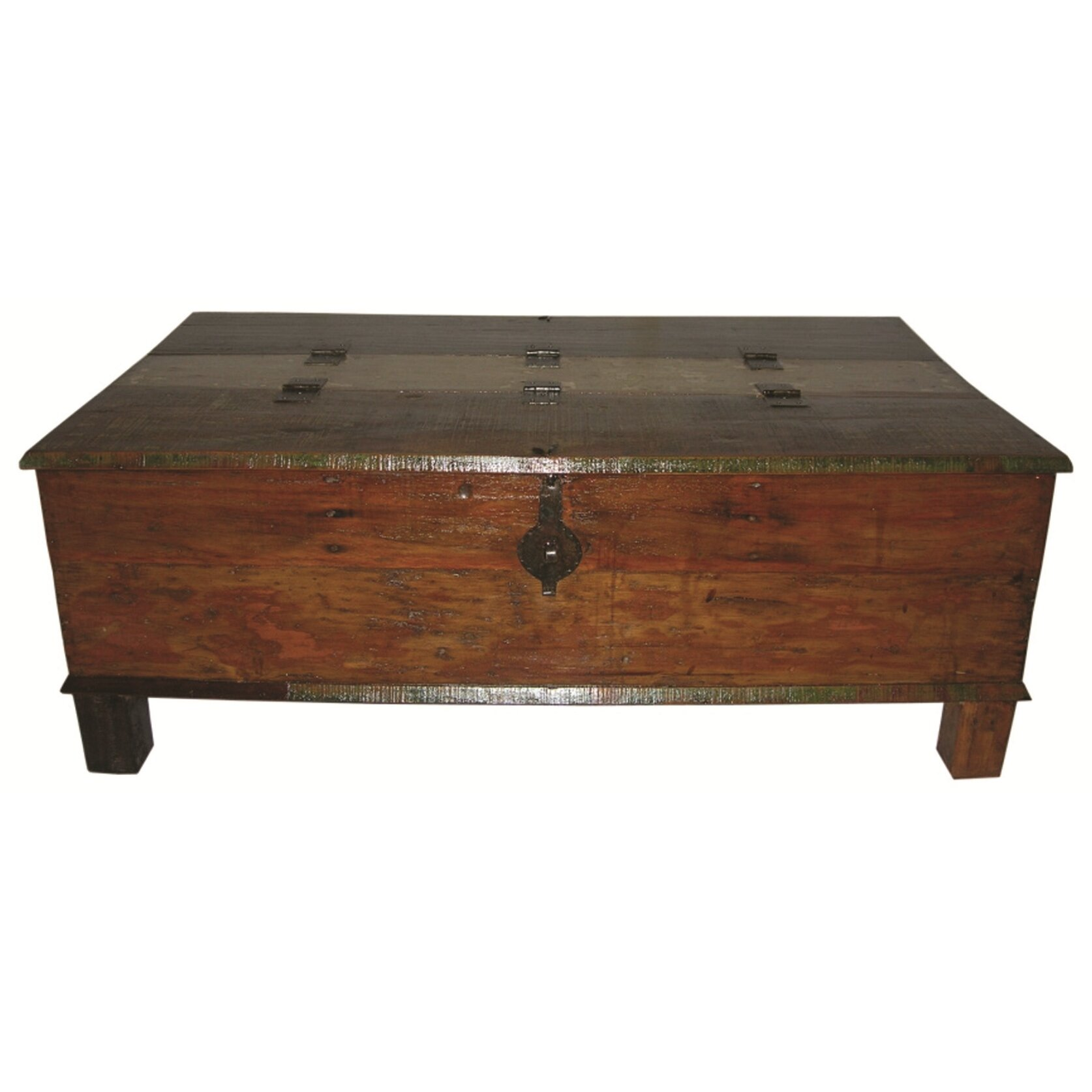 Moti furniture box trunk coffee table reviews wayfair for Table furniture