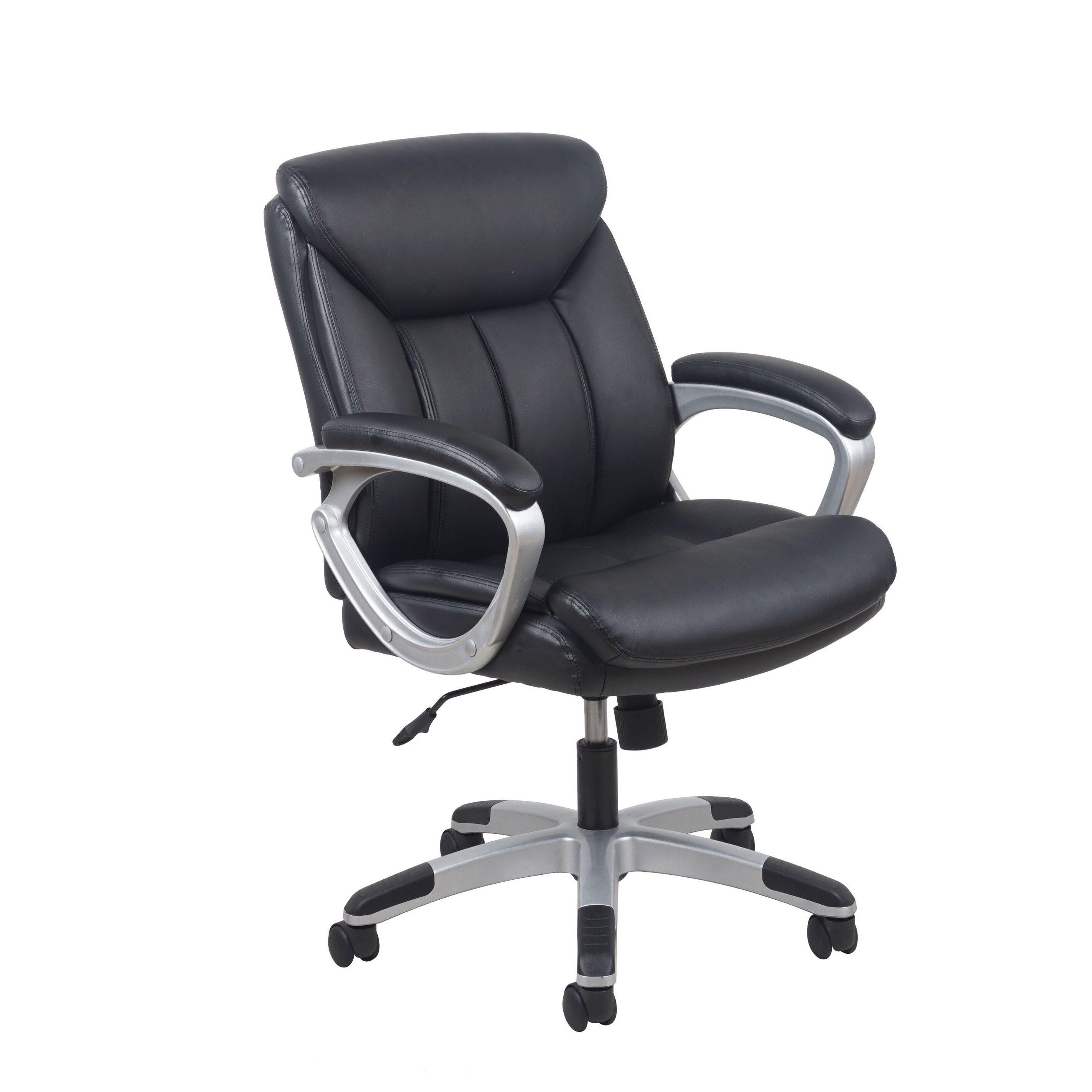 ofm essentials leather executive chair reviews wayfair. Black Bedroom Furniture Sets. Home Design Ideas