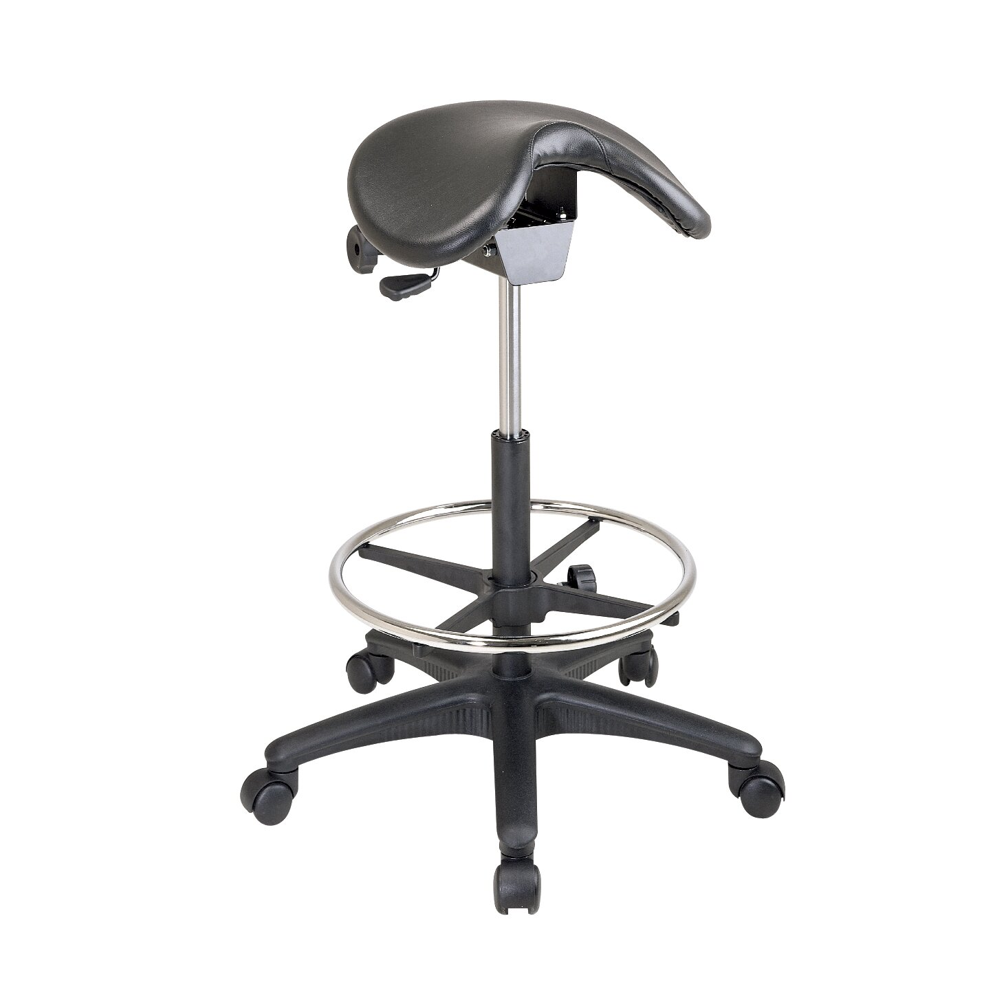 Varick Gallery Arambula Height Adjustable Backless Stool