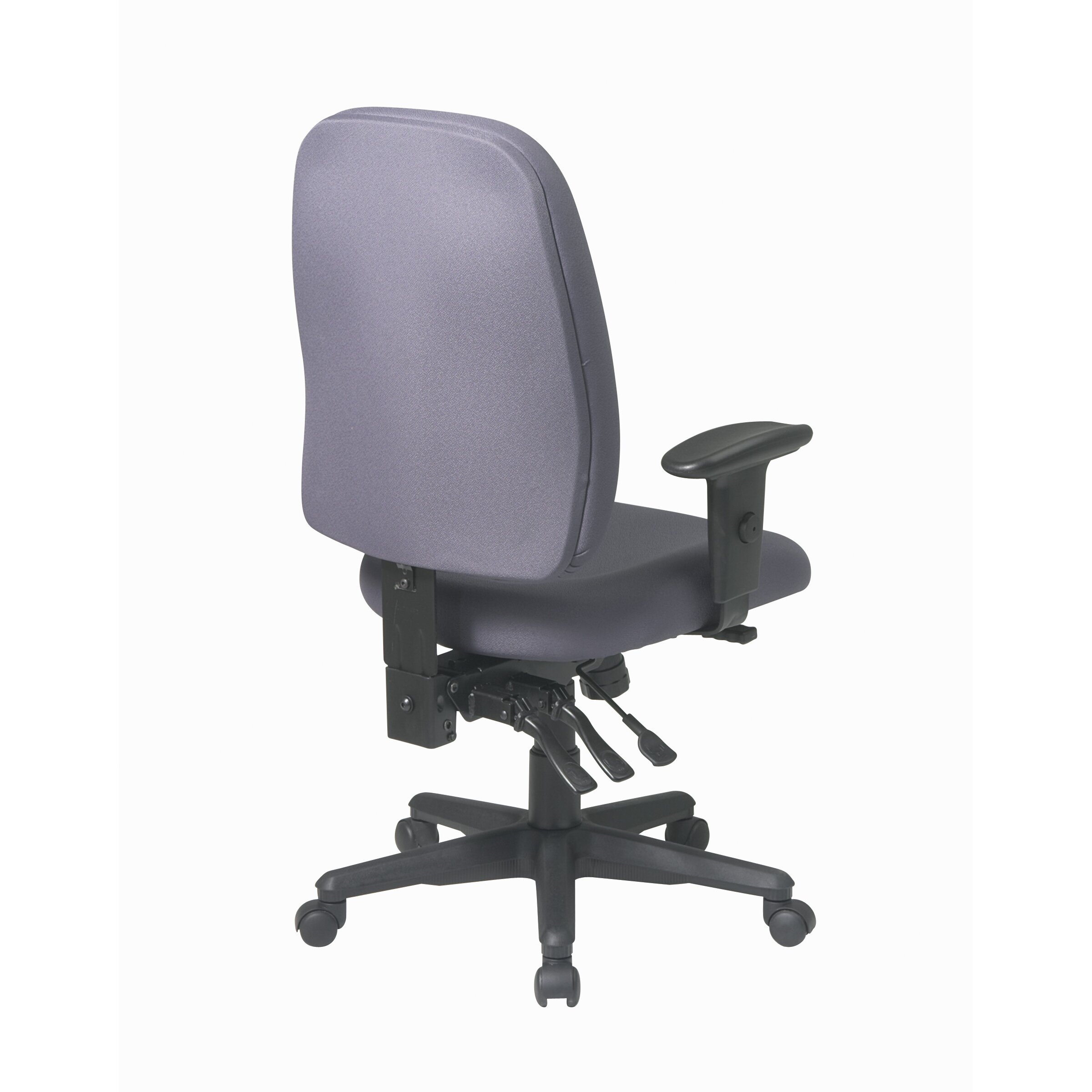 Office Star Ergonomic Mid Back Office Chair With Adjustable Soft Padded Arms