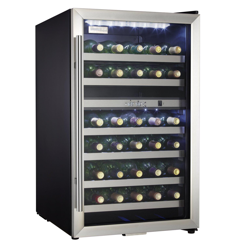 danby 38 bottle dual zone freestanding wine refrigerator reviews wayfair. Black Bedroom Furniture Sets. Home Design Ideas