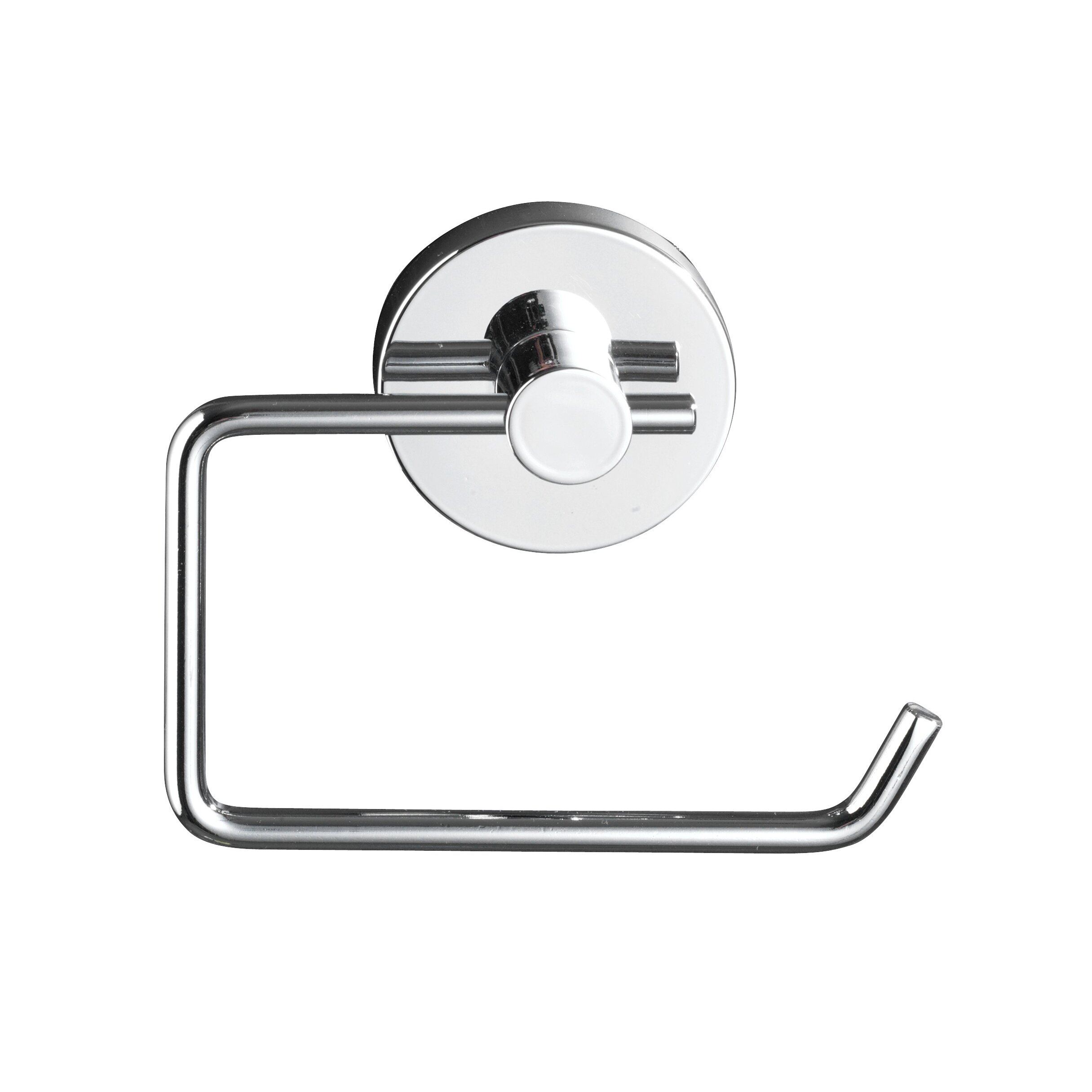 Wenko vacuum loc wall mounted toilet roll and brush holder Glass toilet roll holder