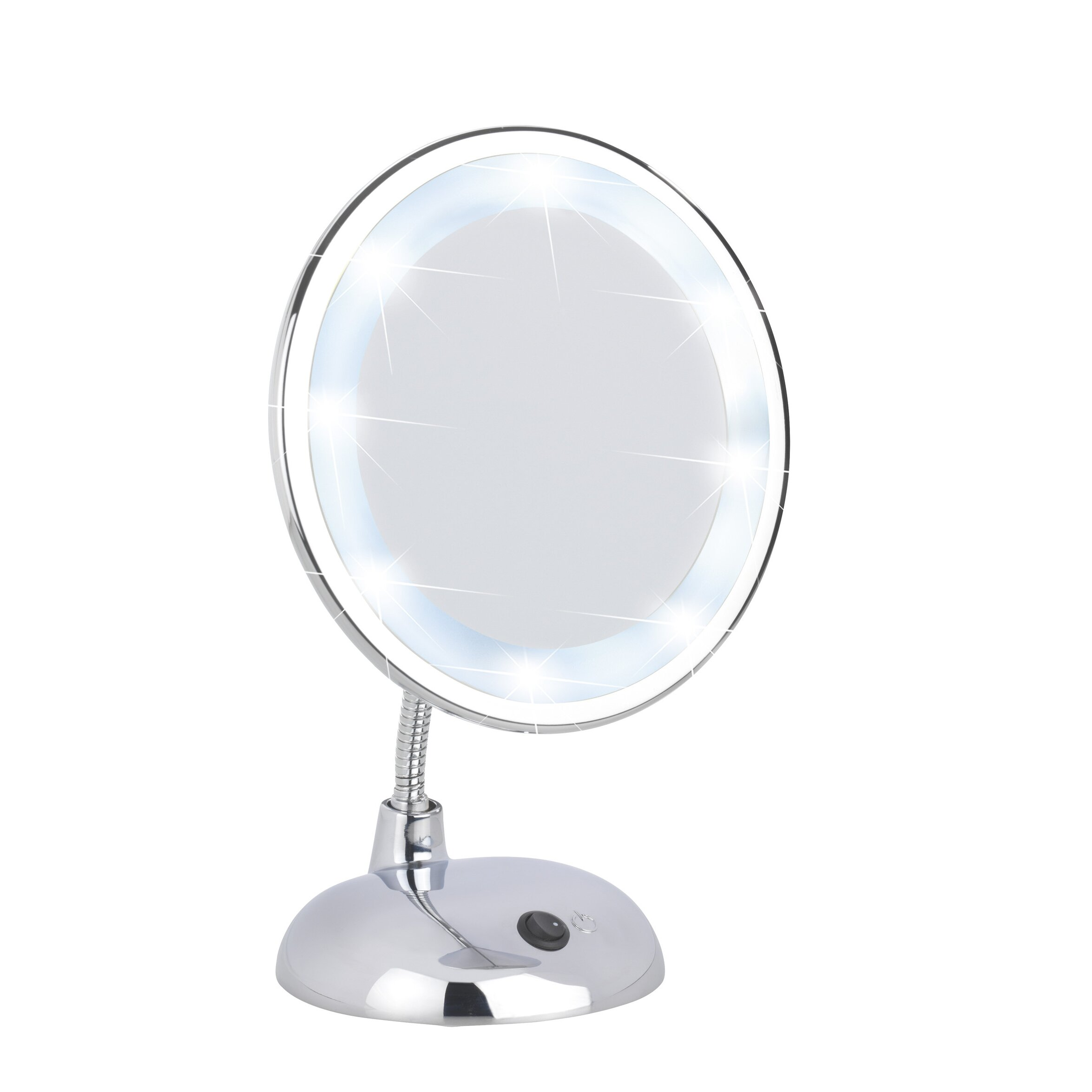 wenko led standing cosmetic mirror reviews wayfair uk. Black Bedroom Furniture Sets. Home Design Ideas
