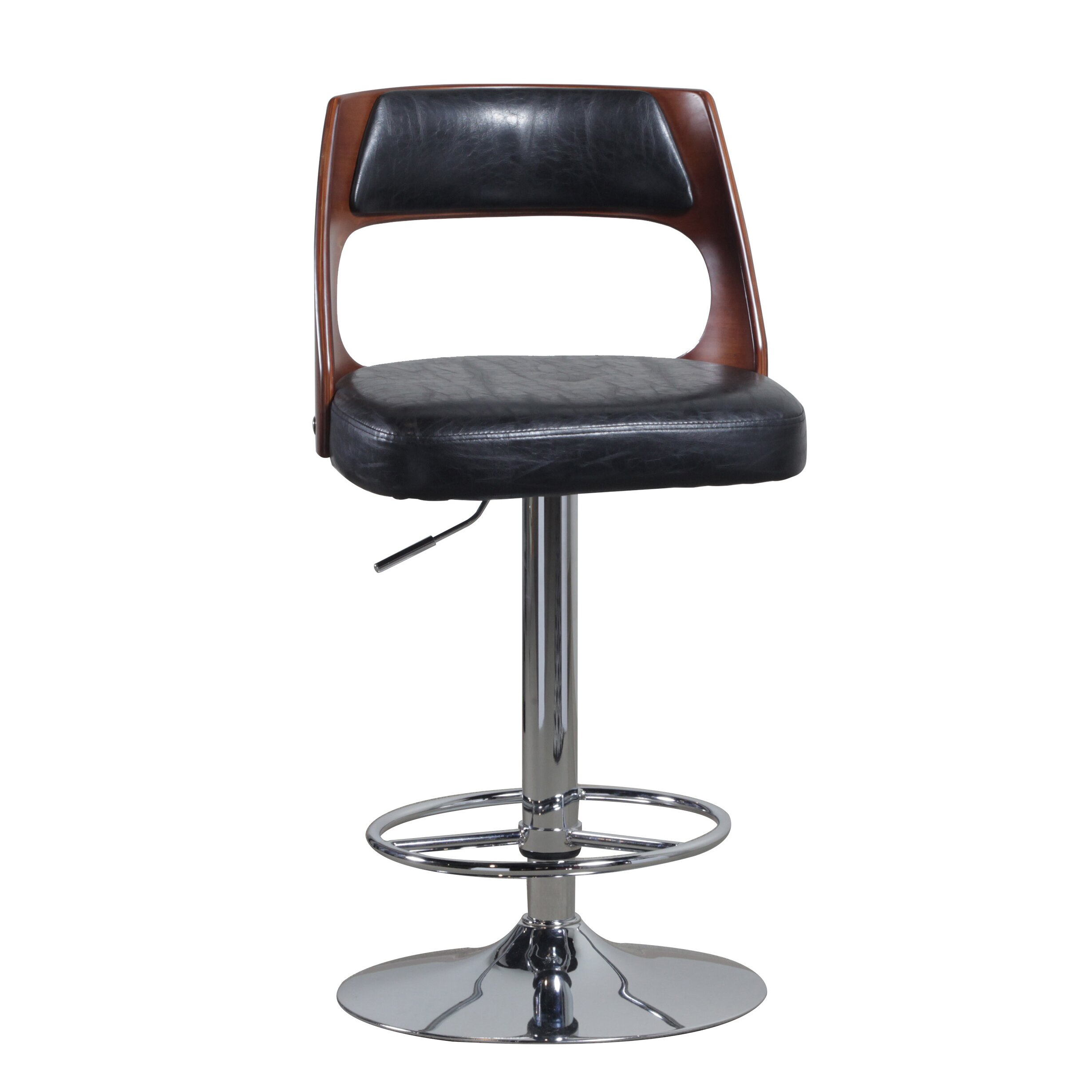 Powell Adjustable Height Swivel Bar Stool Wayfair