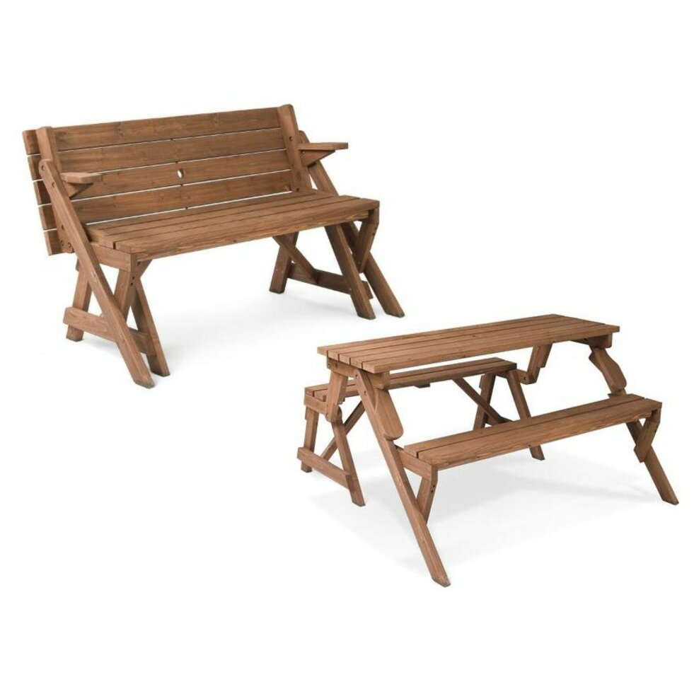 Leisure Season Folding Picnic Table and Bench & Reviews ...