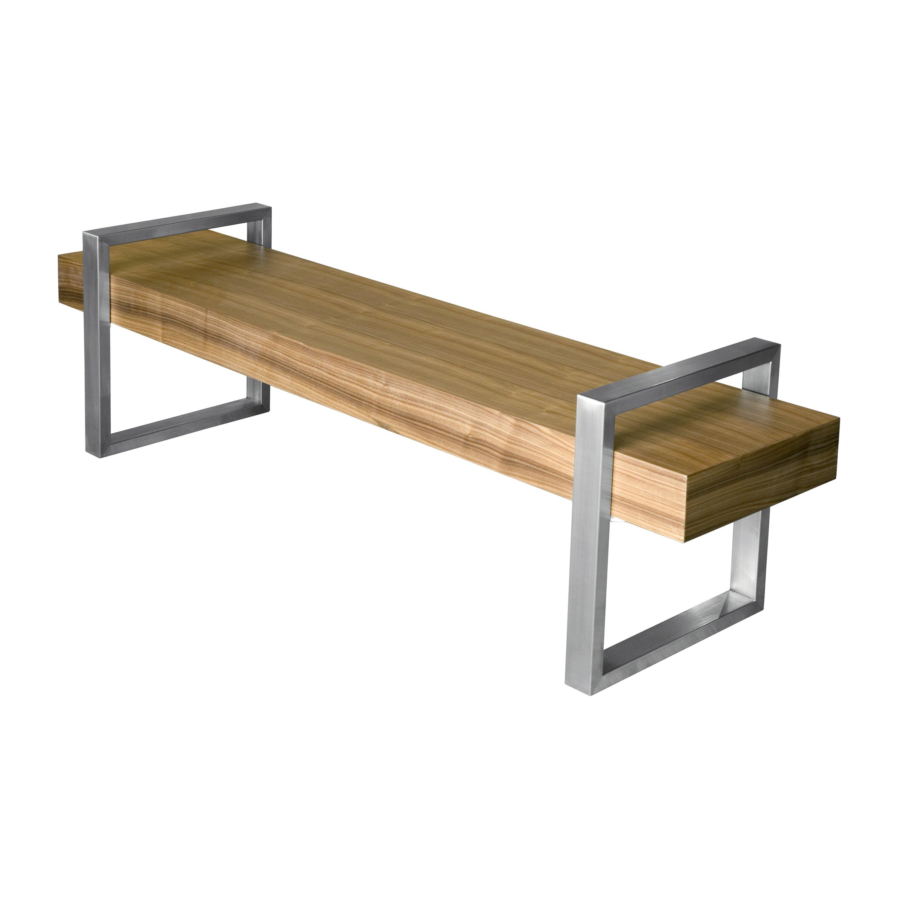Gus Modern Return Wooden Bench Reviews Wayfair