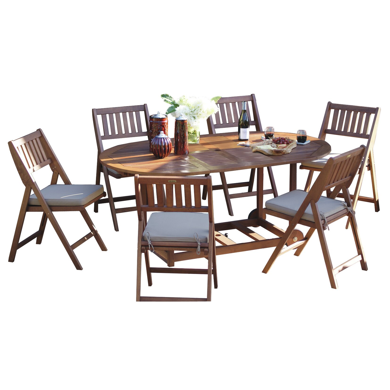 Beachcrest home pinellas 7 piece dining set with cushions for 7 piece dining set