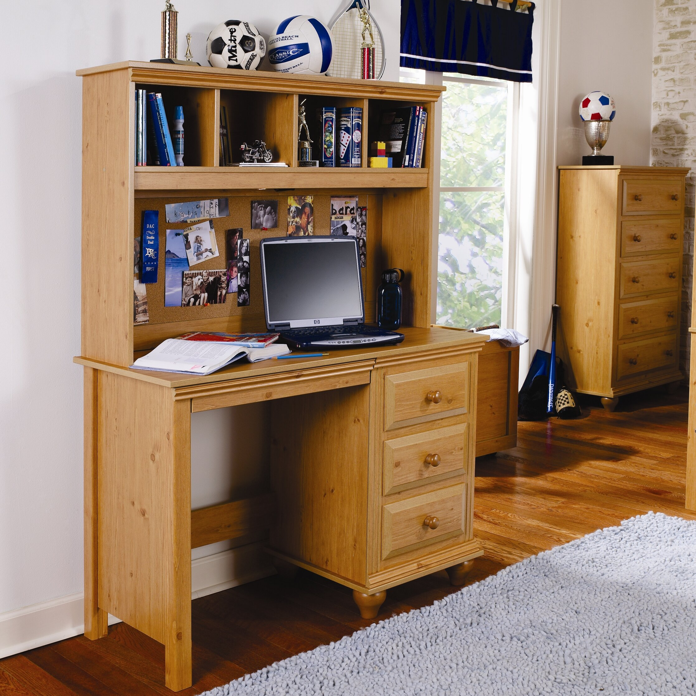 Lang Furniture Madison Computer Desk With Hutch & Reviews