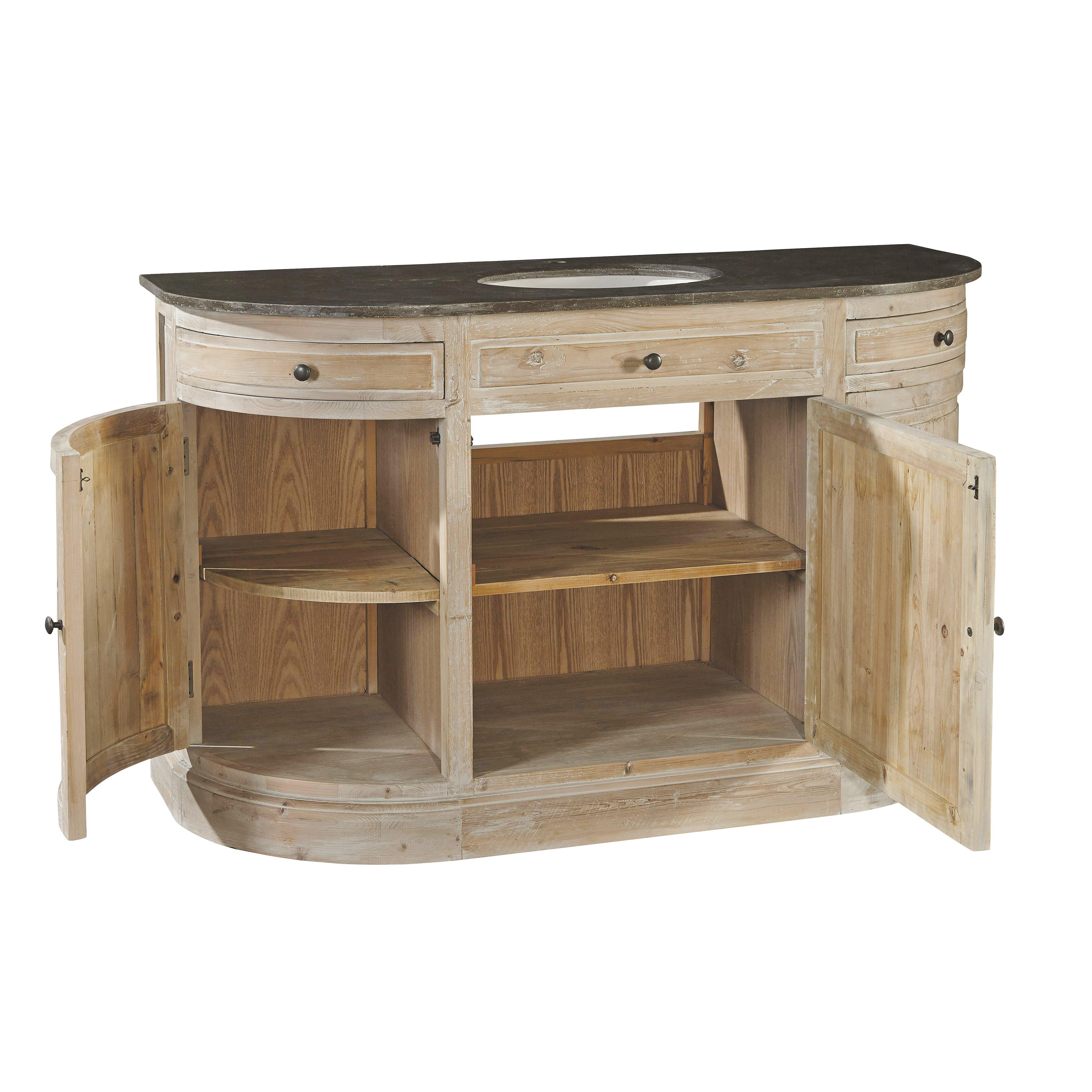 Furniture Classics Ltd 57 5 Single Demi Lune Bathroom