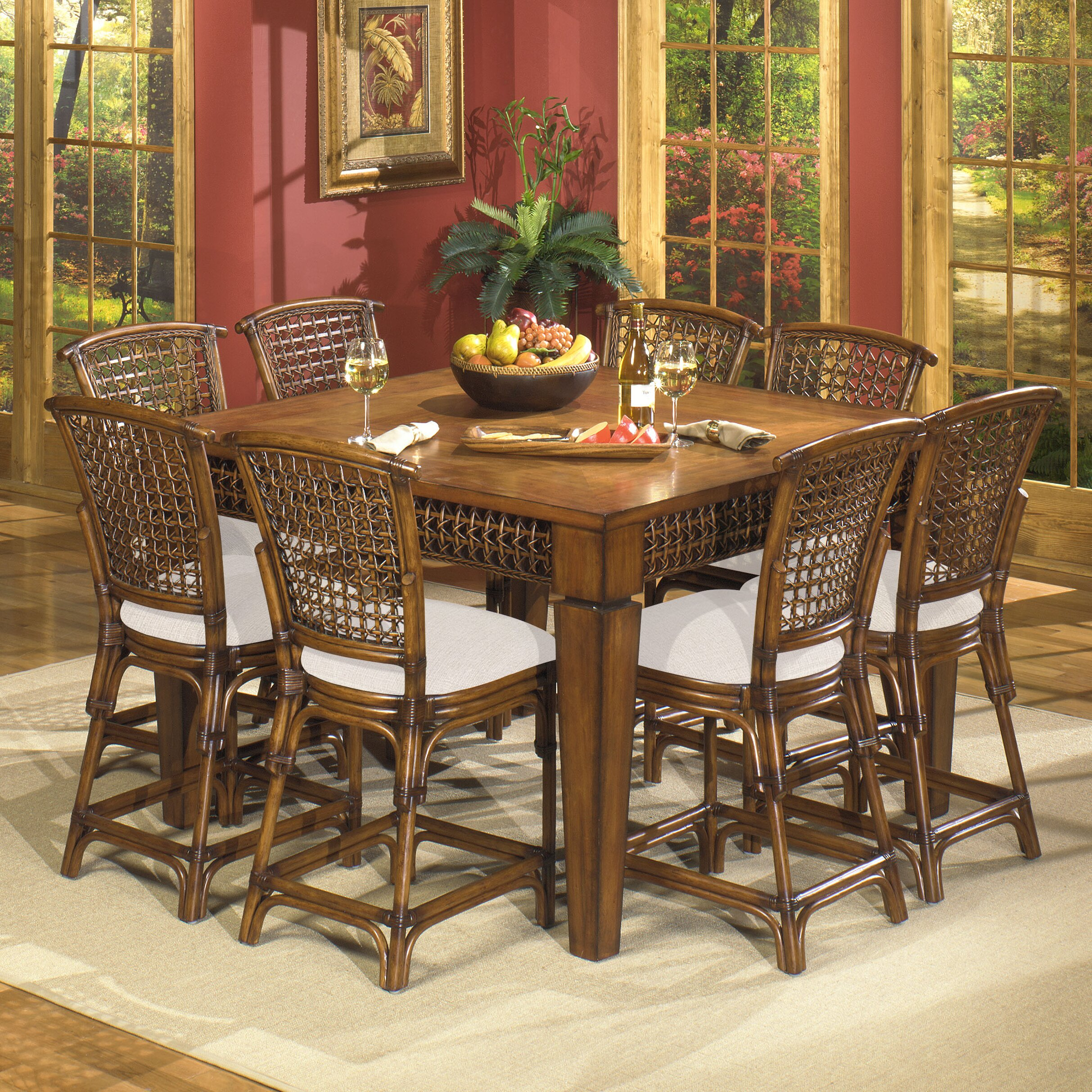 Acacia home and garden fiji gathering dining table wayfair for Table queens acacia
