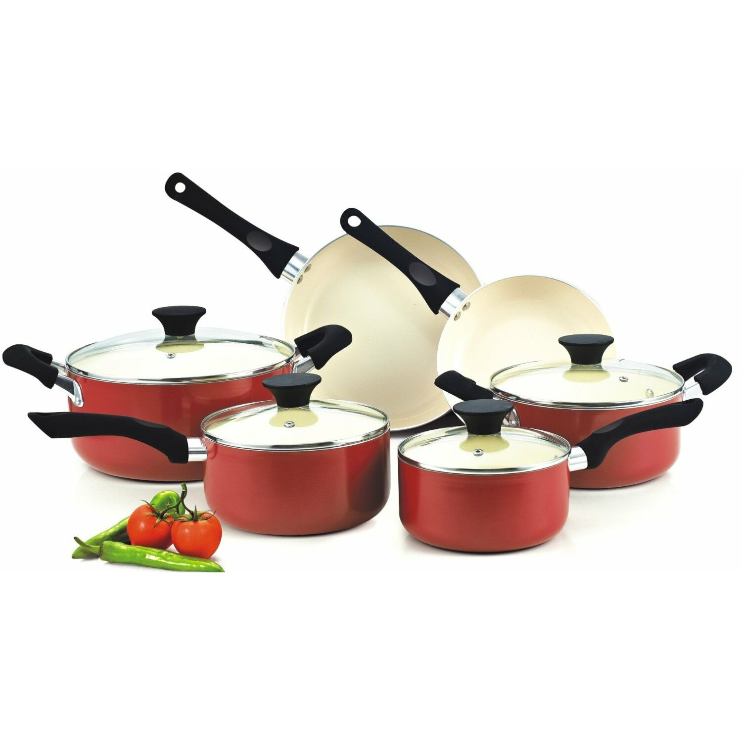 Cook n home 10 piece non stick cookware set reviews for Home piece