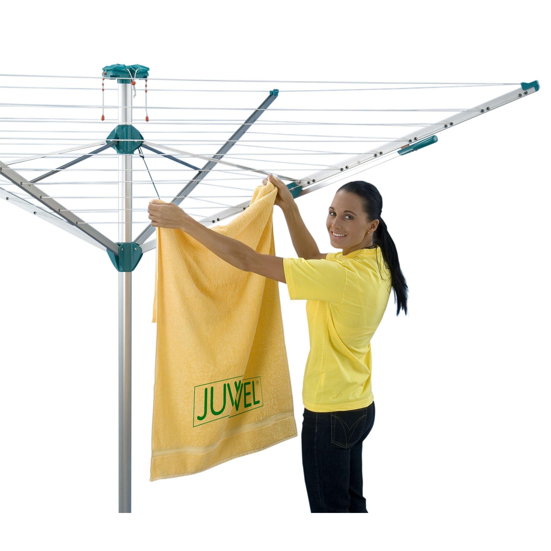 juwel novaplus 500 rotary clothes line reviews wayfair. Black Bedroom Furniture Sets. Home Design Ideas
