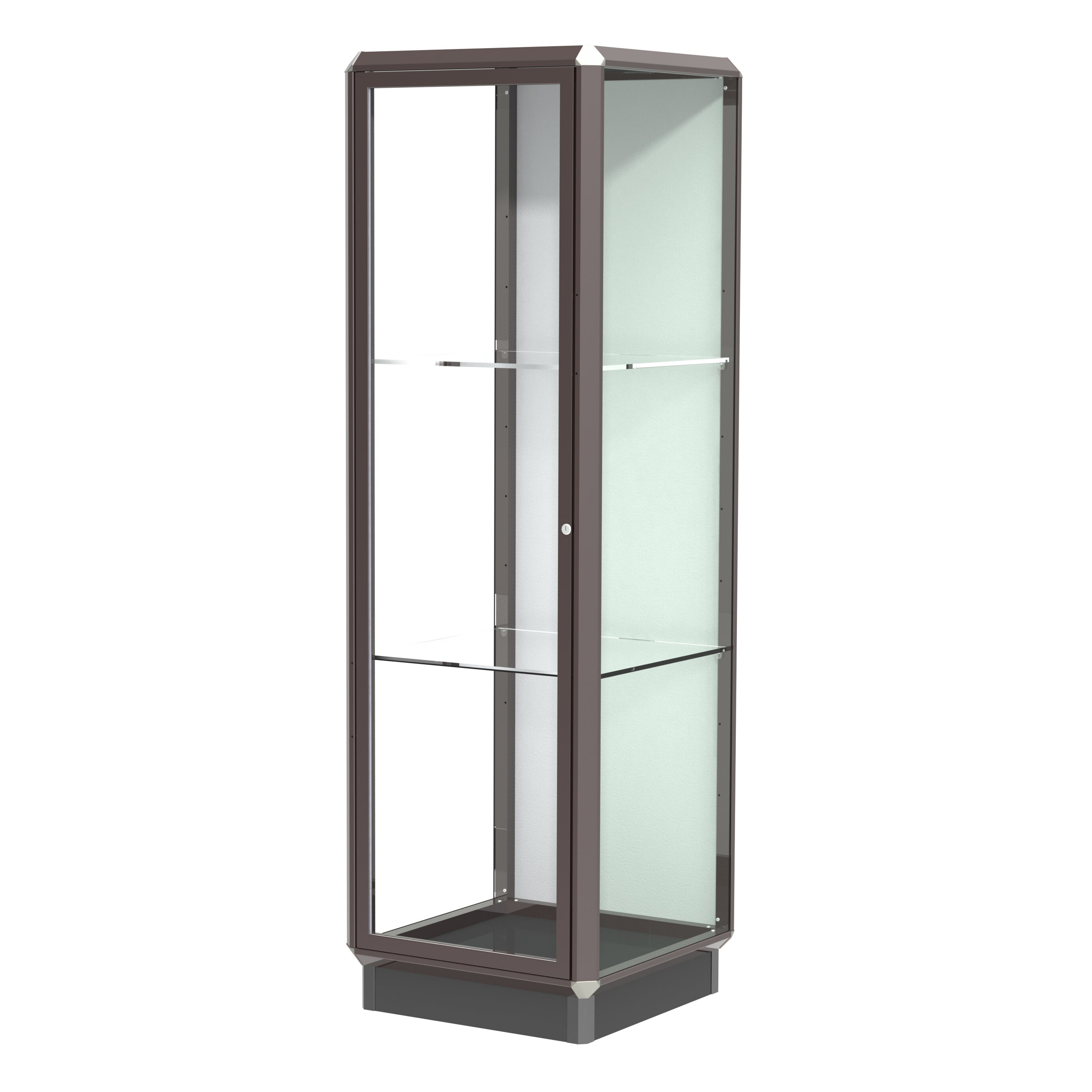 waddell prominence series lighted floor display case wayfair. Black Bedroom Furniture Sets. Home Design Ideas
