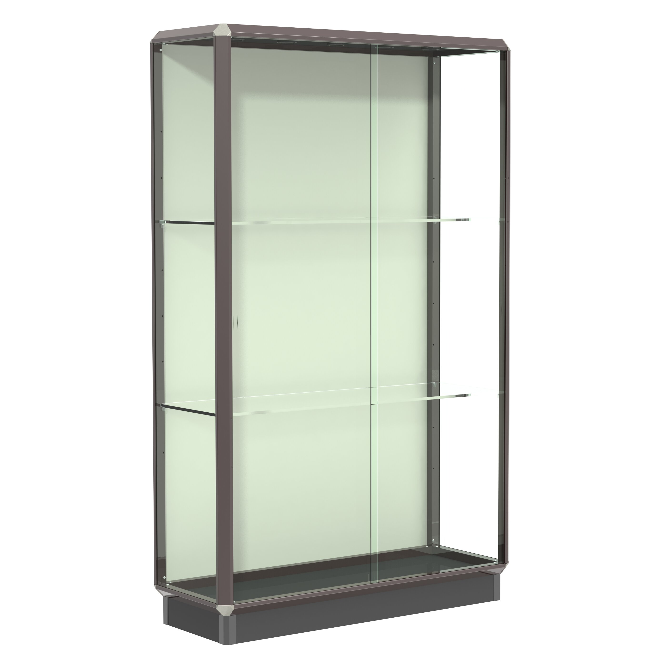 waddell prominence series lighted floor display case. Black Bedroom Furniture Sets. Home Design Ideas