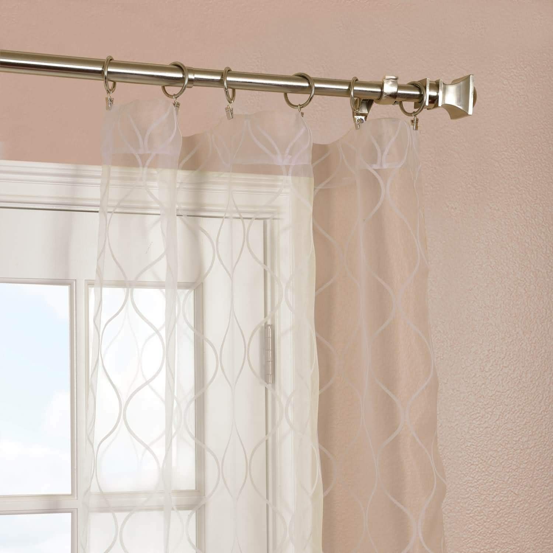 Halfpriced Drapes: Half Price Drapes Palazzo Banded Sheer Single Curtain