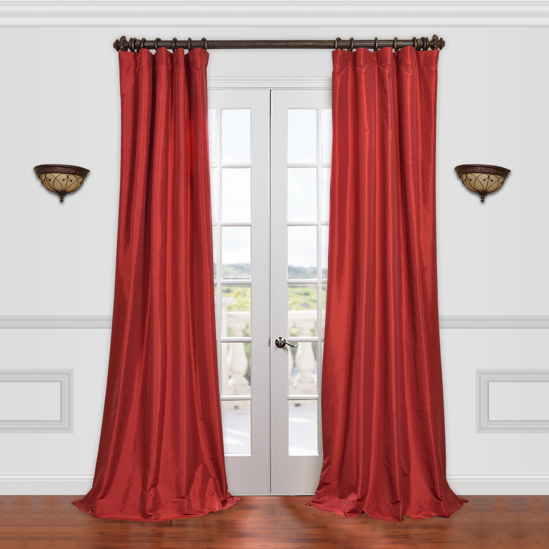 Halfpriced Drapes: Half Price Drapes Solid Taffeta Semi-Opaque Single Curtain