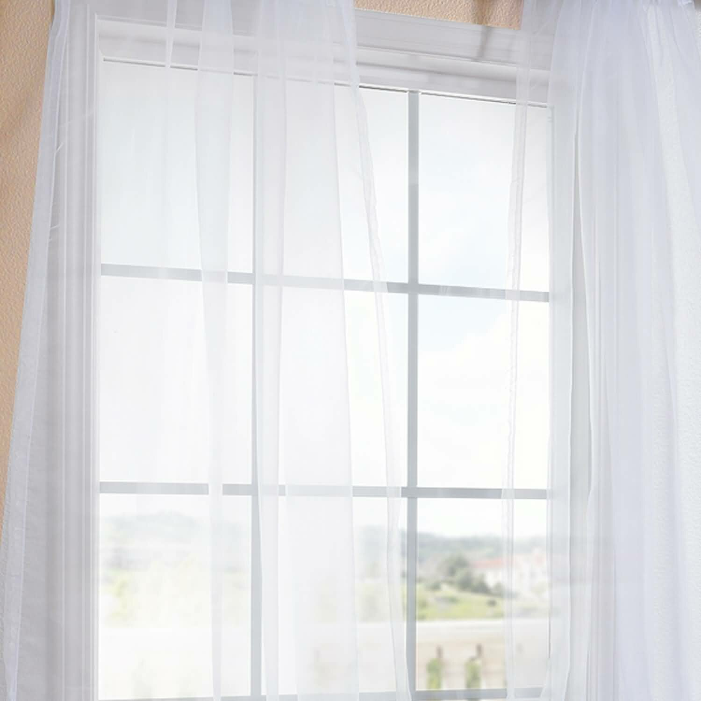 Half Price Drapes Faux Organza Sheer Curtain Panels