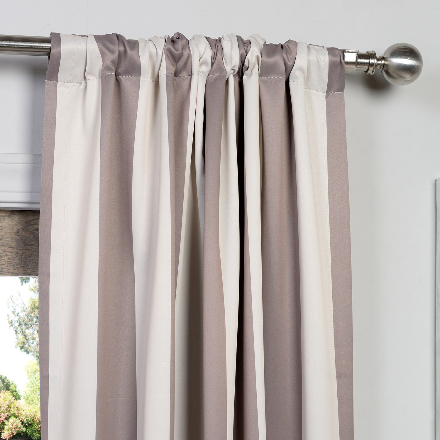 Half Price Drapes Charleston Striped Blackout Thermal