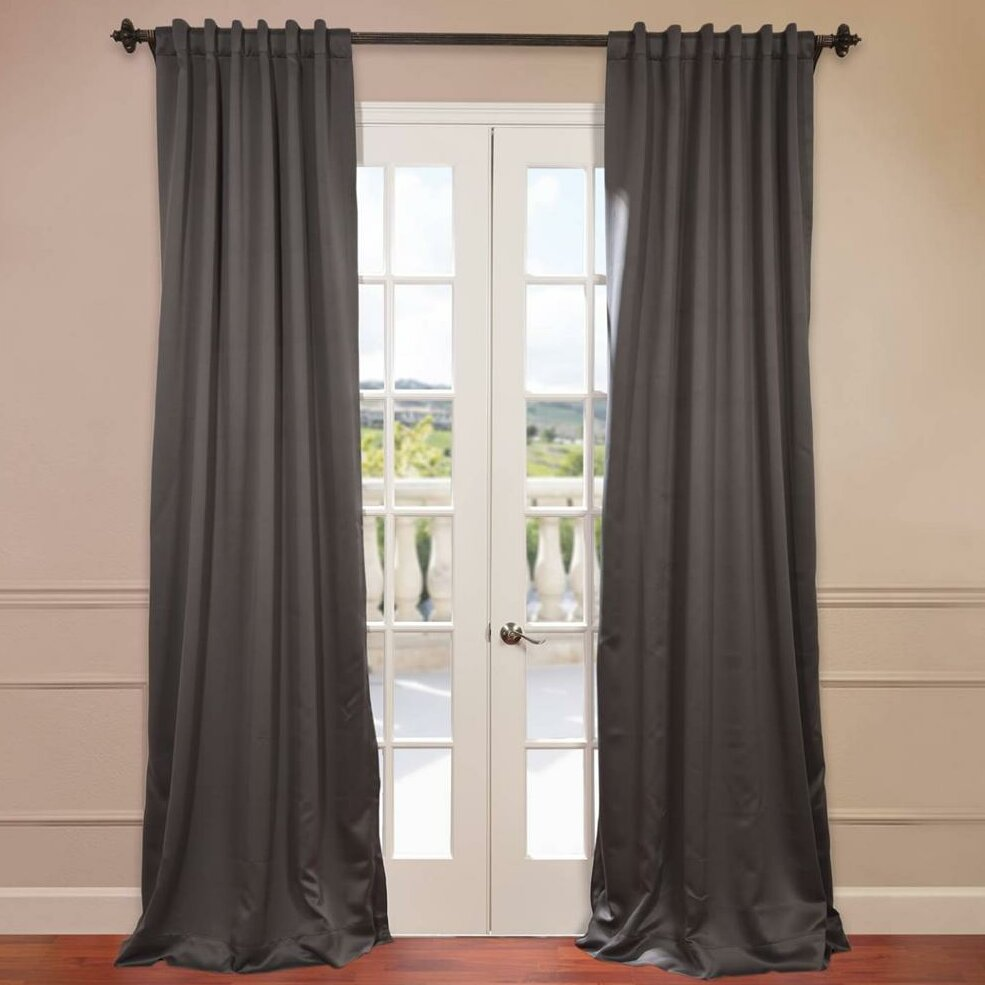 Half Price Drapes Doublewide Plush Blackout Single Curtain Panel Reviews Wayfair
