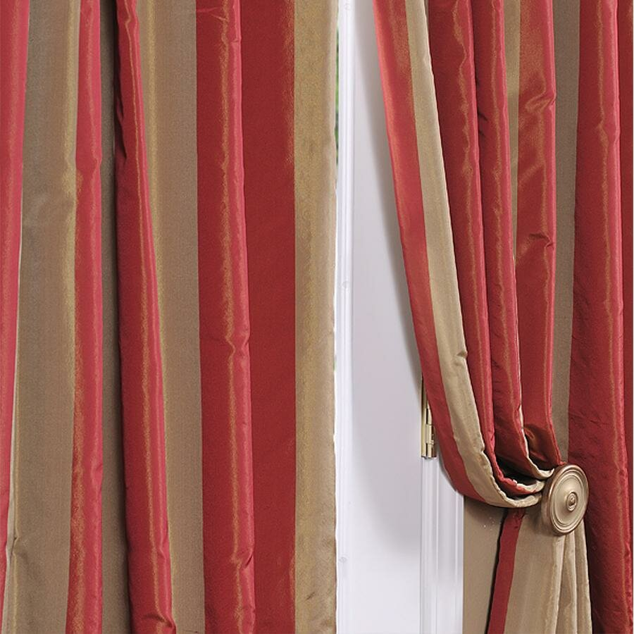 Halfpriced Drapes: Half Price Drapes Rialto Faux Silk Taffeta Stripe Semi