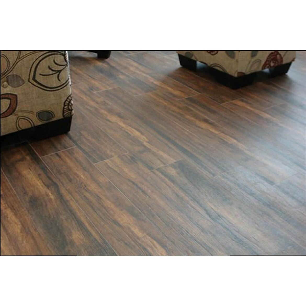 "MSI Botanica Teak 6"" x 24"" Porcelain Wood Tile in Glazed"