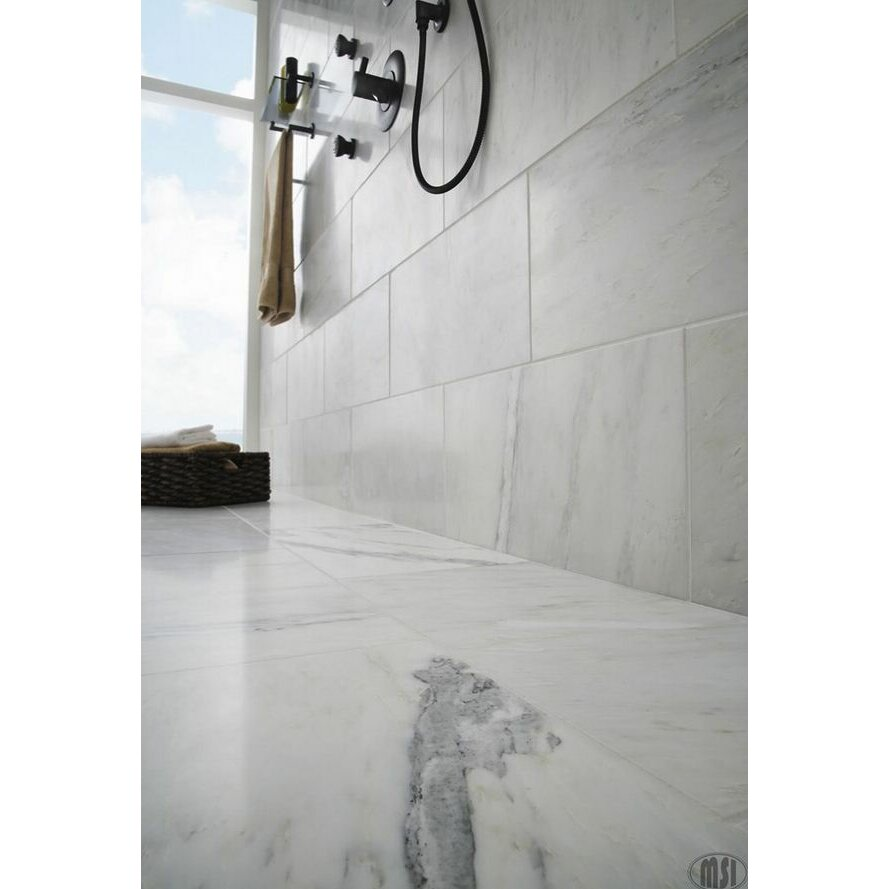 Msi 18 x 18 marble field tile in arabescato carrara for 18 x 18 marble floor tile