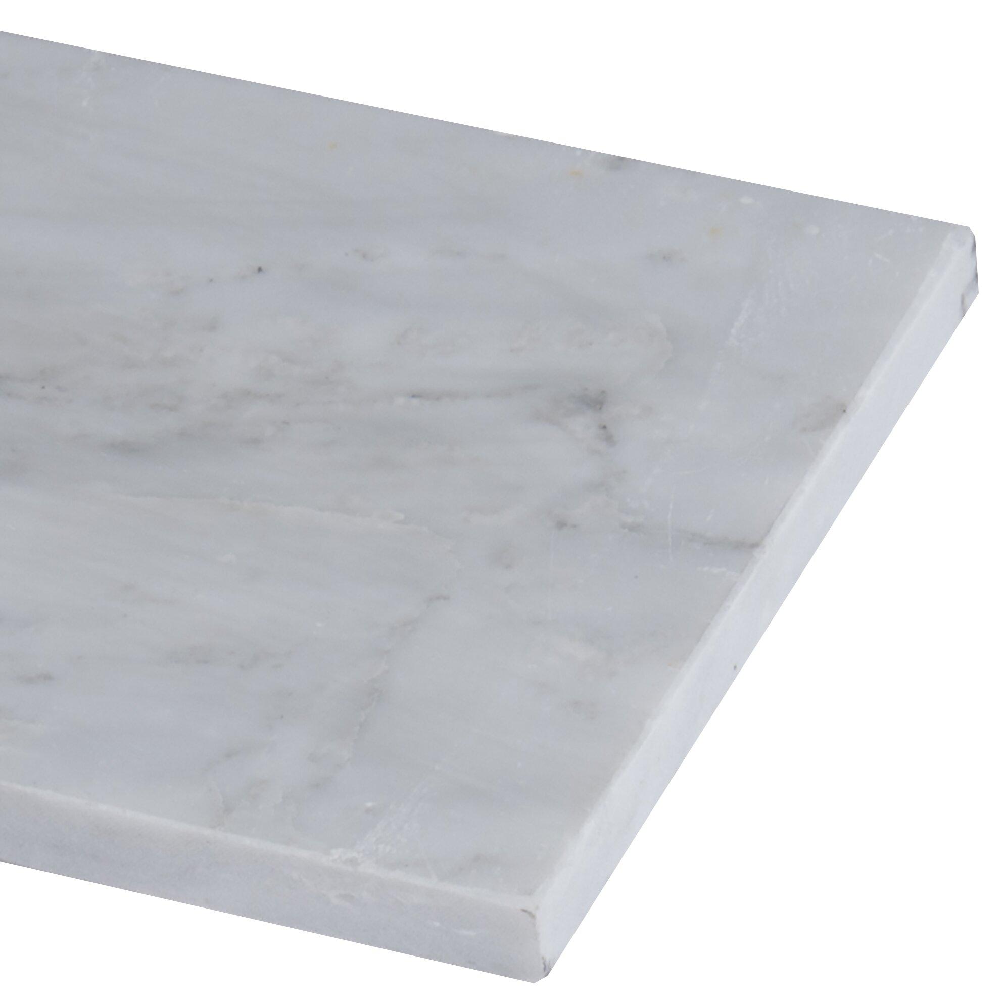 Msi 4 X 12 Honed Marble Tile In Arabescato Carrara