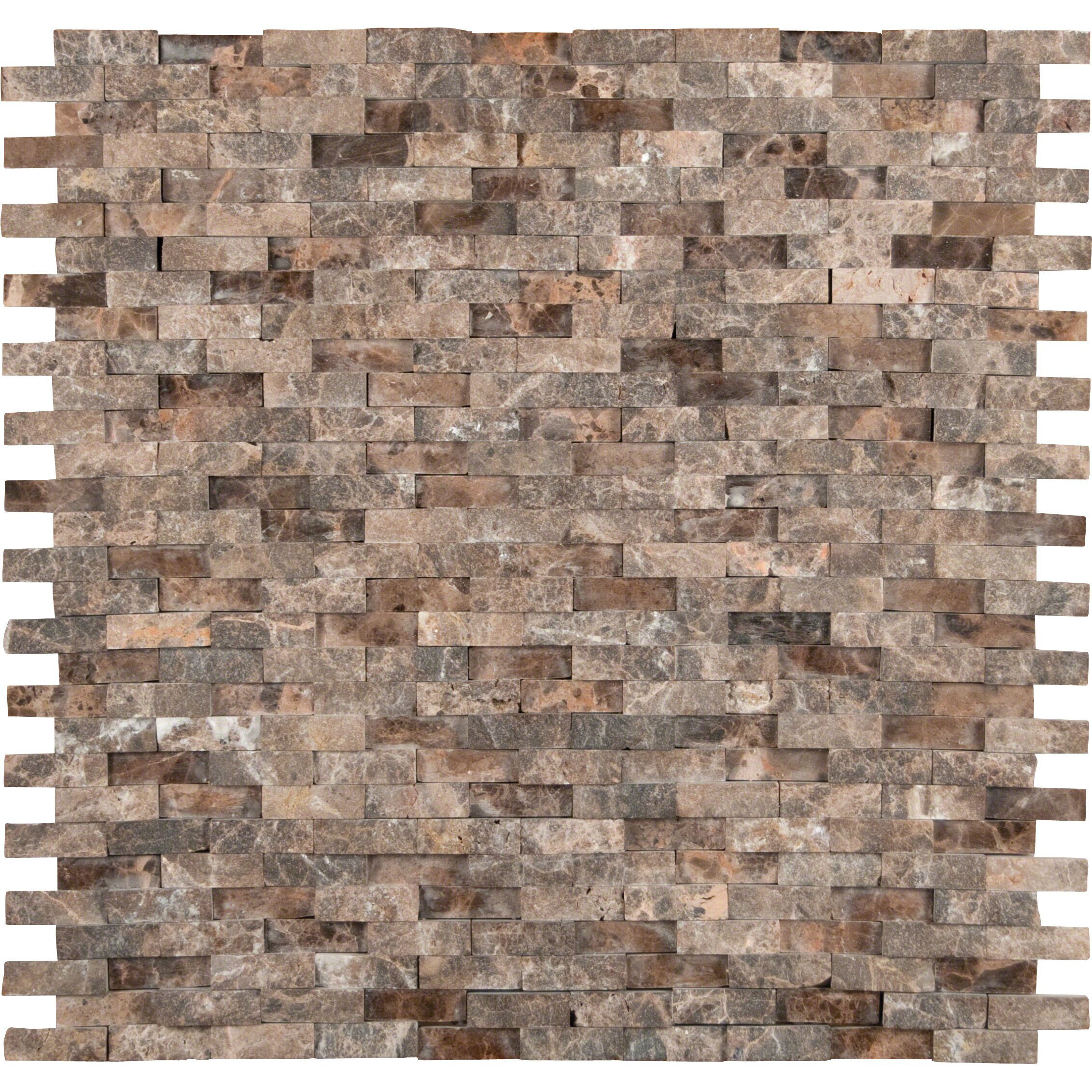 Msi Emperador 12 X 12 Marble Splitface Tile In Brown