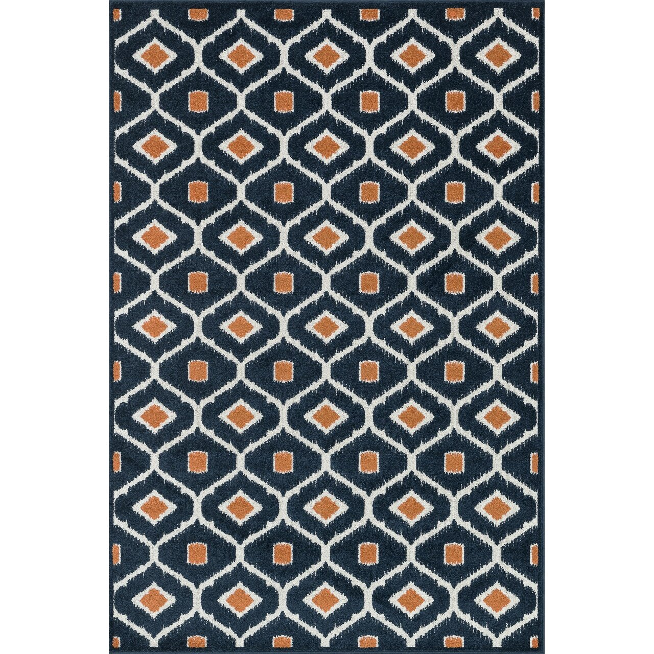 Loloi Rugs Oasis Navy Orange Outdoor Area Rug Amp Reviews