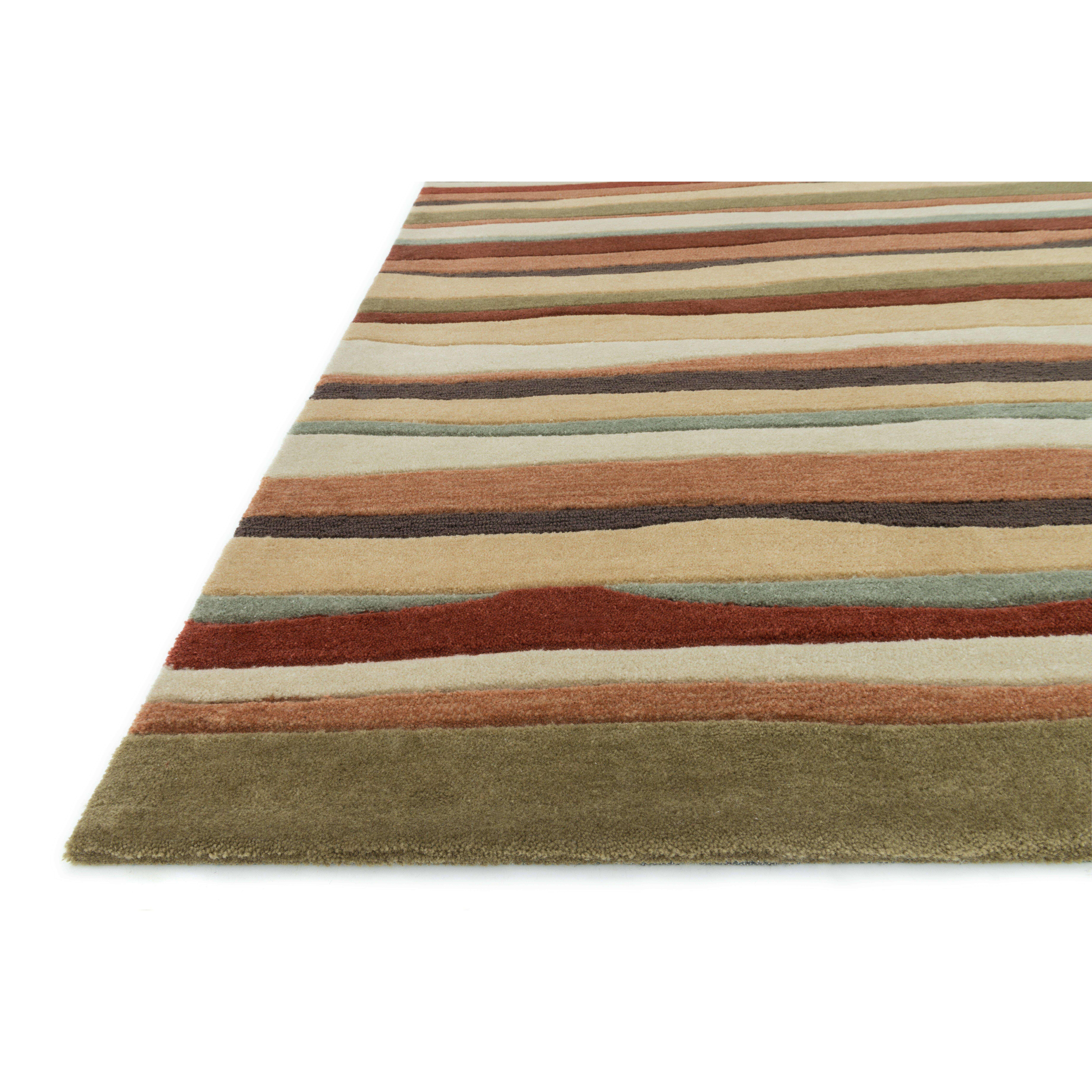 loloi rugs grant orange striped area rug reviews wayfair